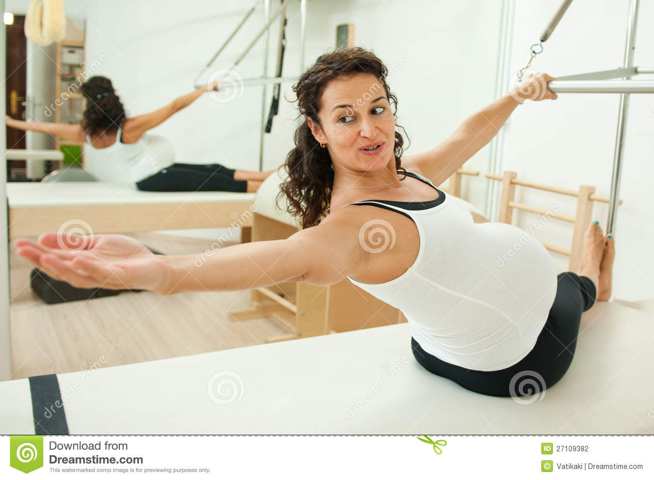 Download Pregnant Lady Doing Pilates Stock Photo - Image of motherhood, exercise: 27109382
