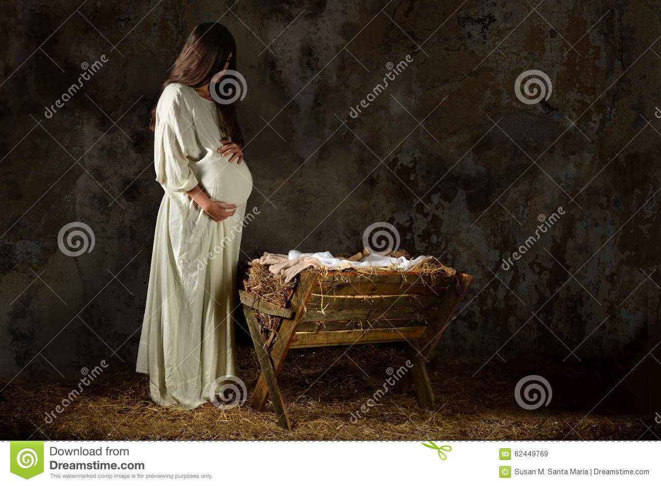 Pregnant Mary Looking At The Manger Stock Image - Image of ... | 1300 x 955 jpeg 164kB