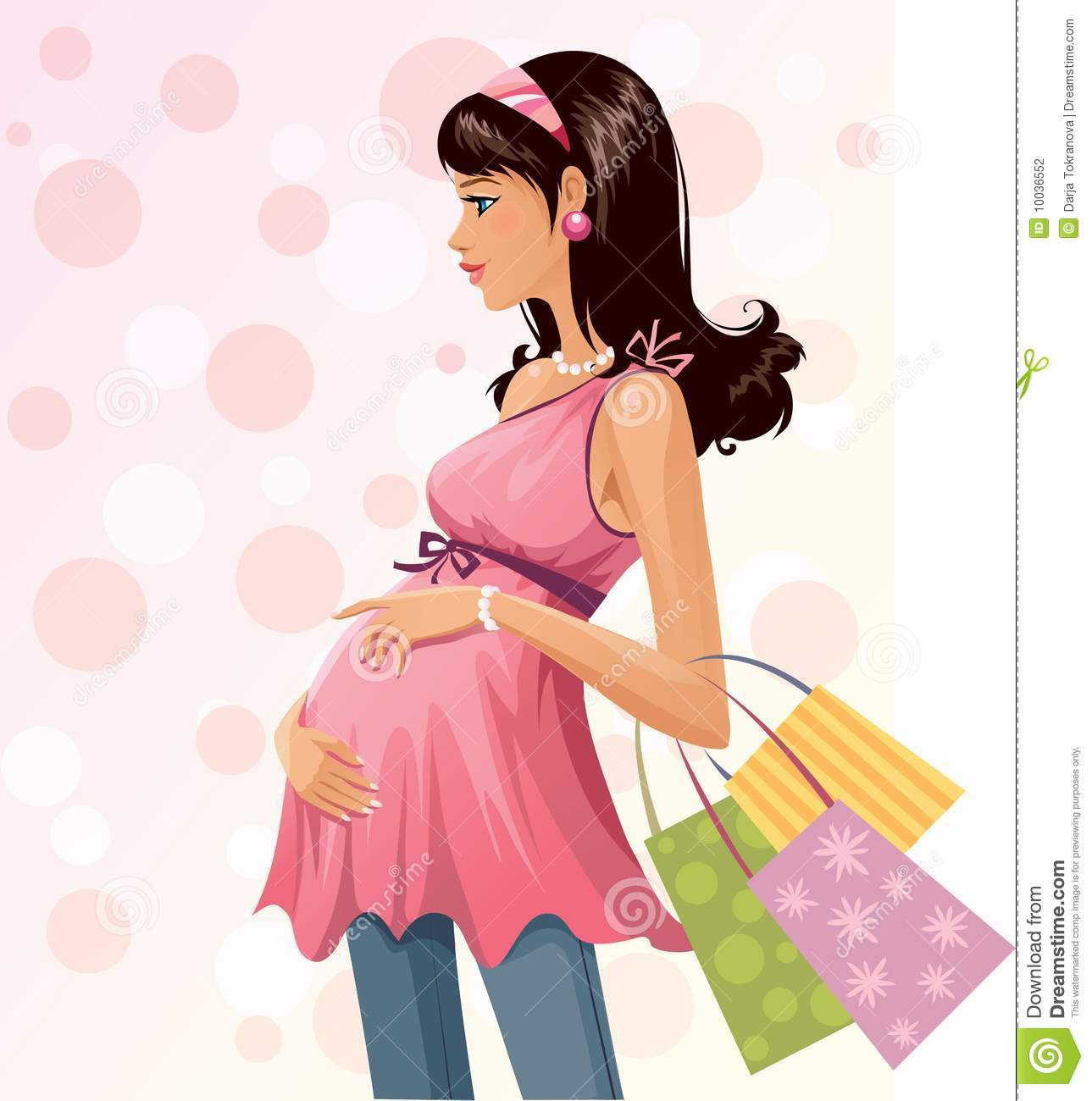 Pregnant Shopper Stock Photography - Image: 10036552