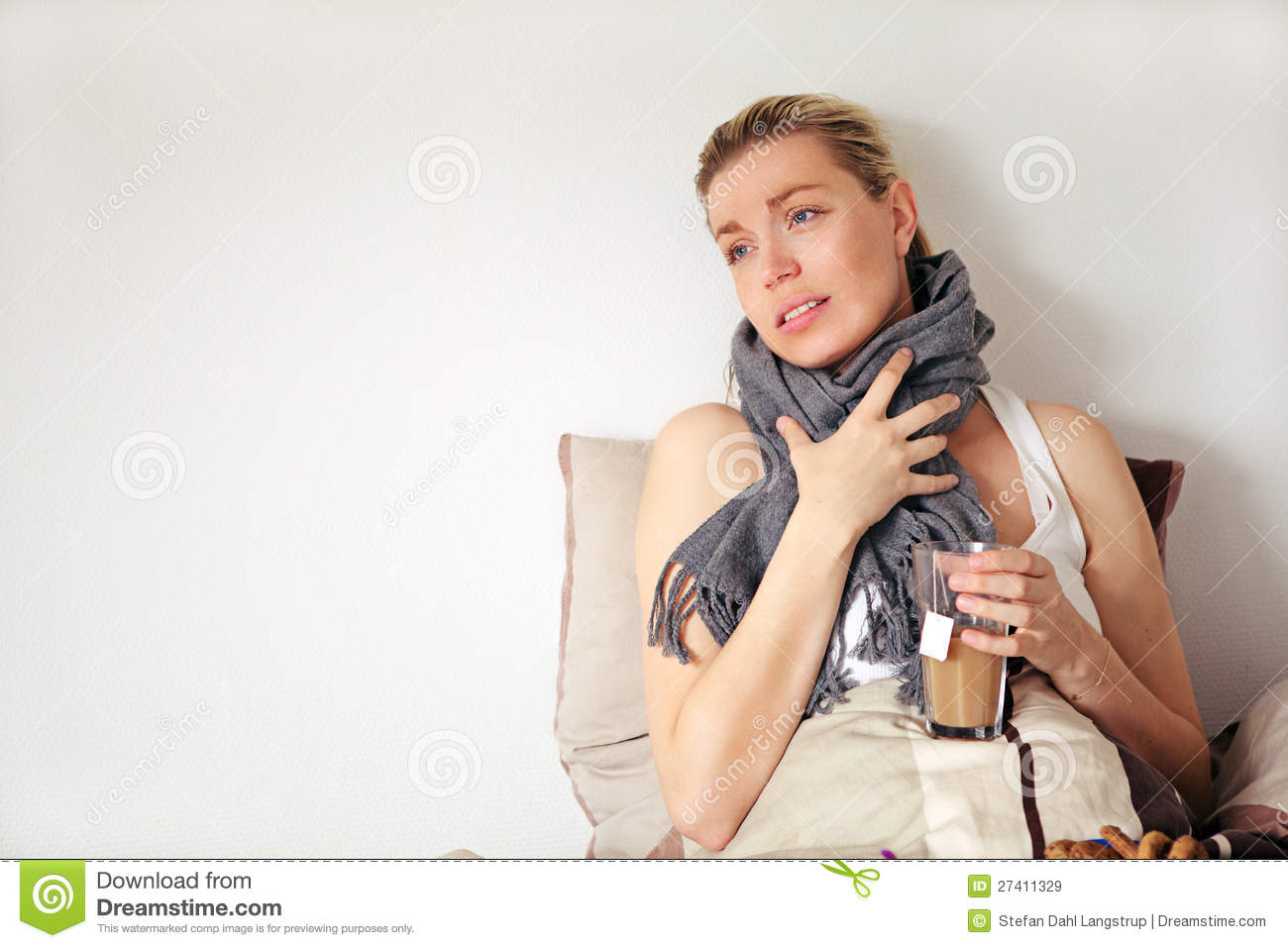 Pregnant woman with the flu