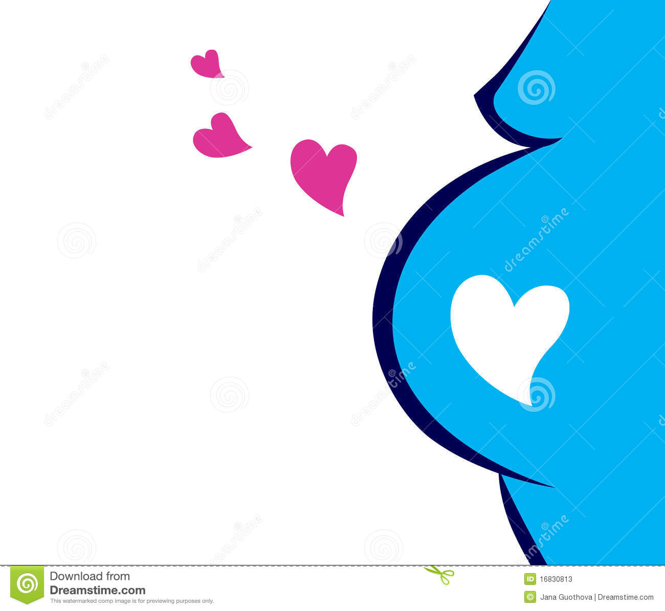 Pregnant Woman Icon With Heart Blue Stock Photos Image
