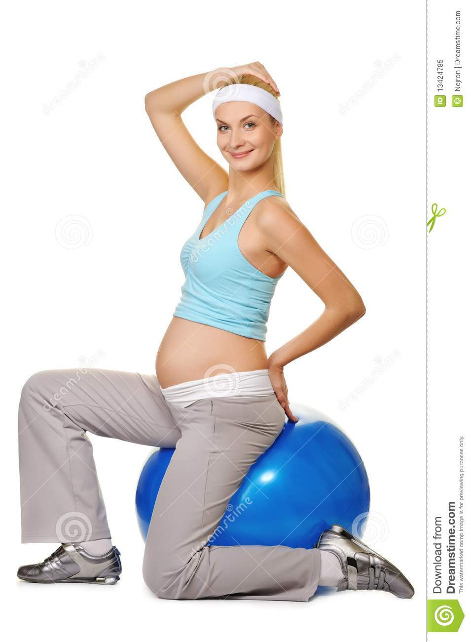 Pregnant Woman Making Exercise Royalty Free Stock Photo