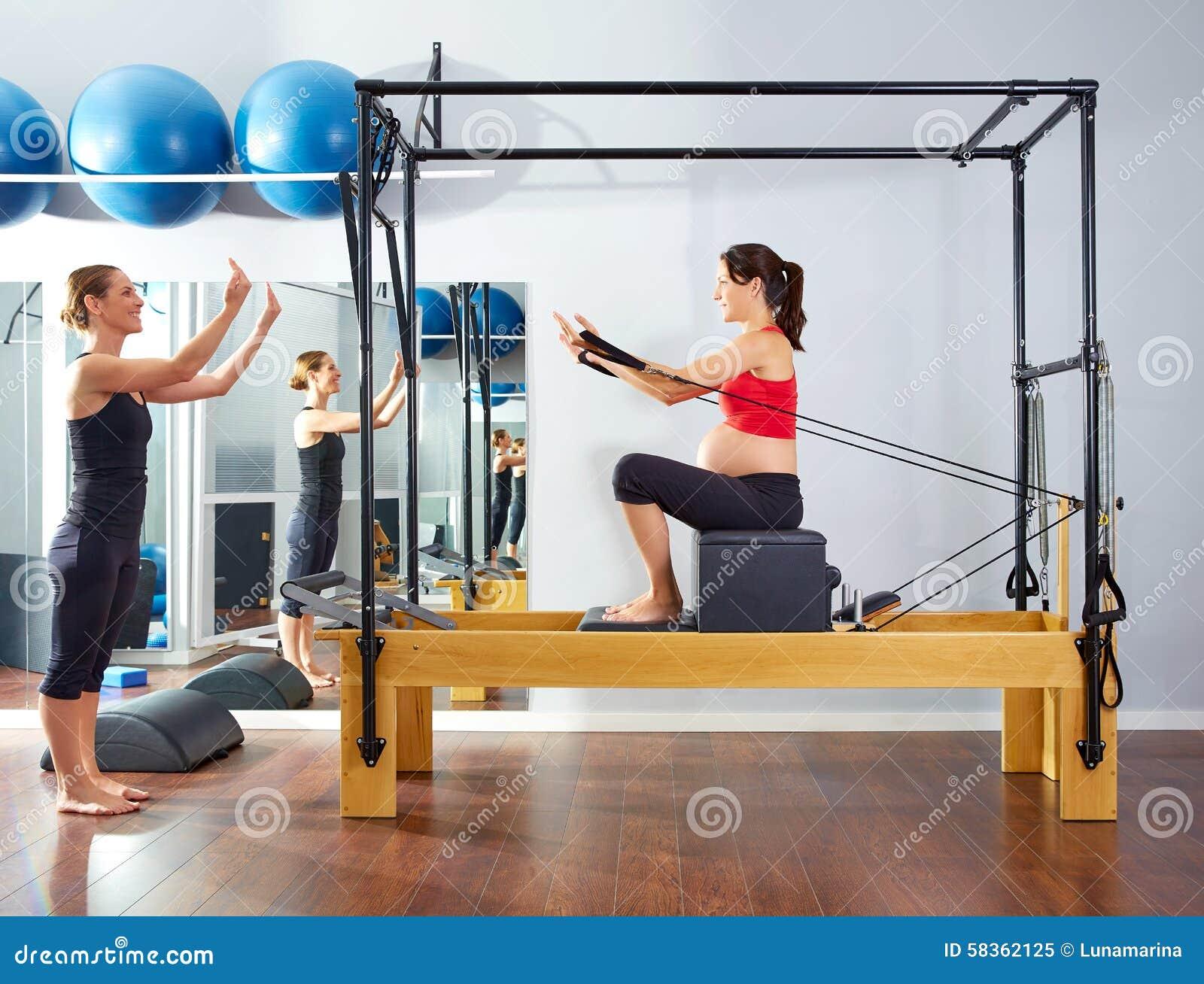 Pregnant Woman Pilates Reformer Short Box