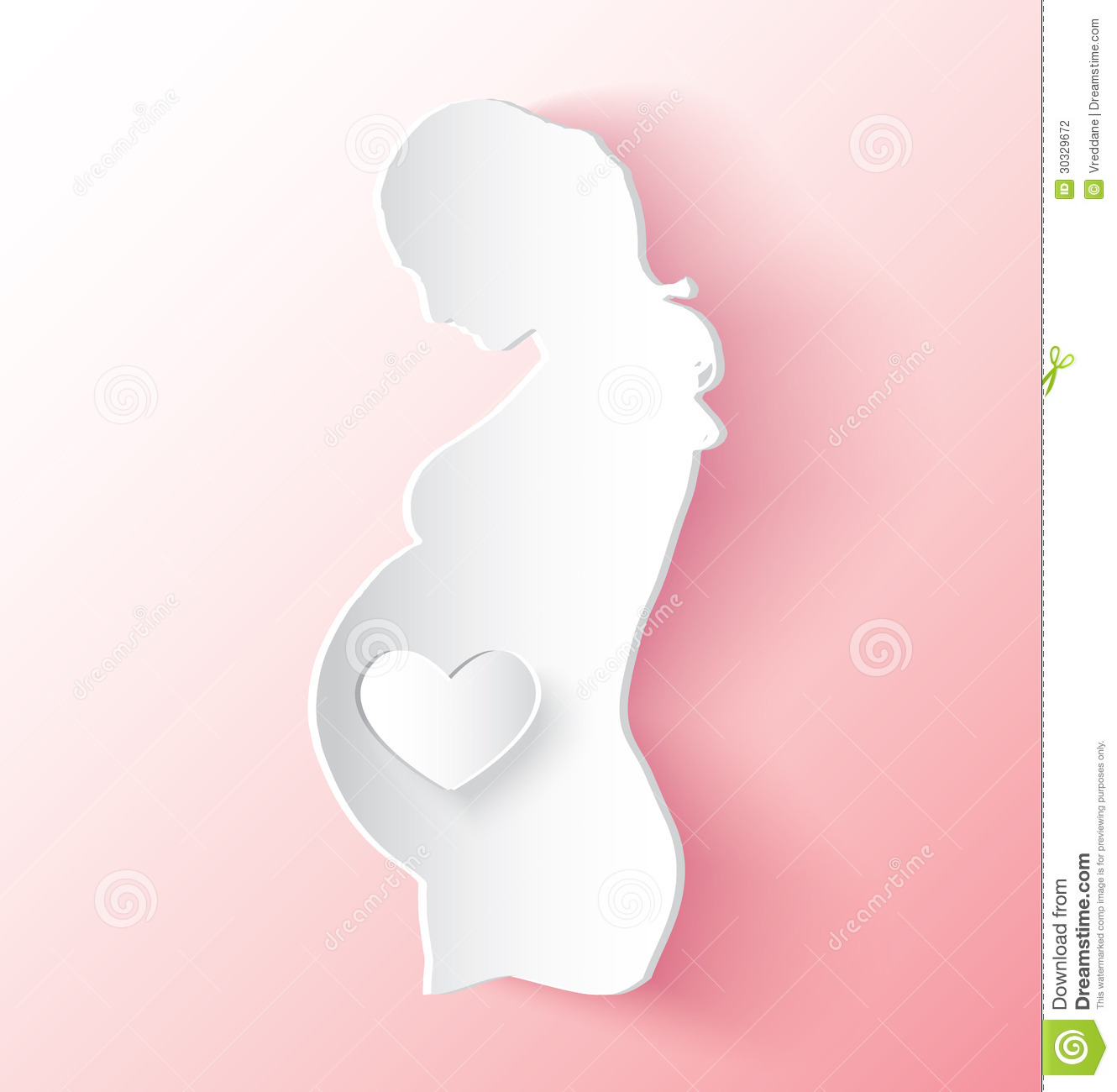 Pregnant Woman Sticker Stock Photography