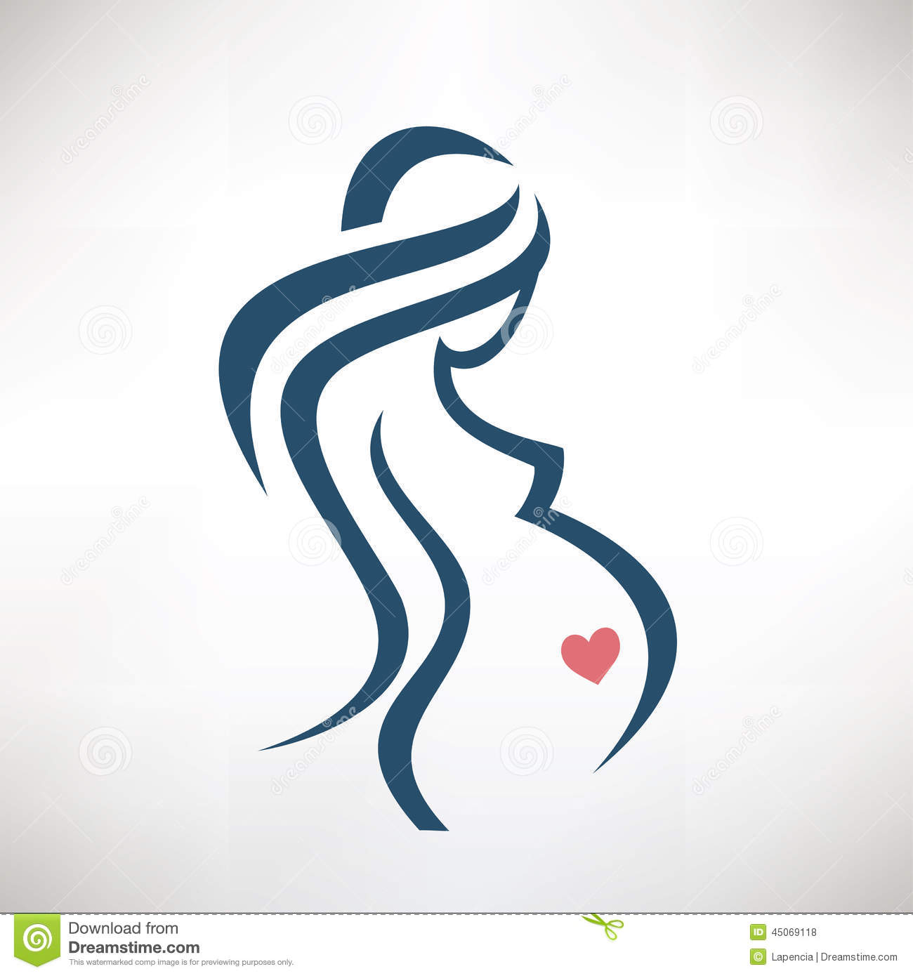Pregnant Woman Symbol Stock Vector Illustration Of Belly 45069118