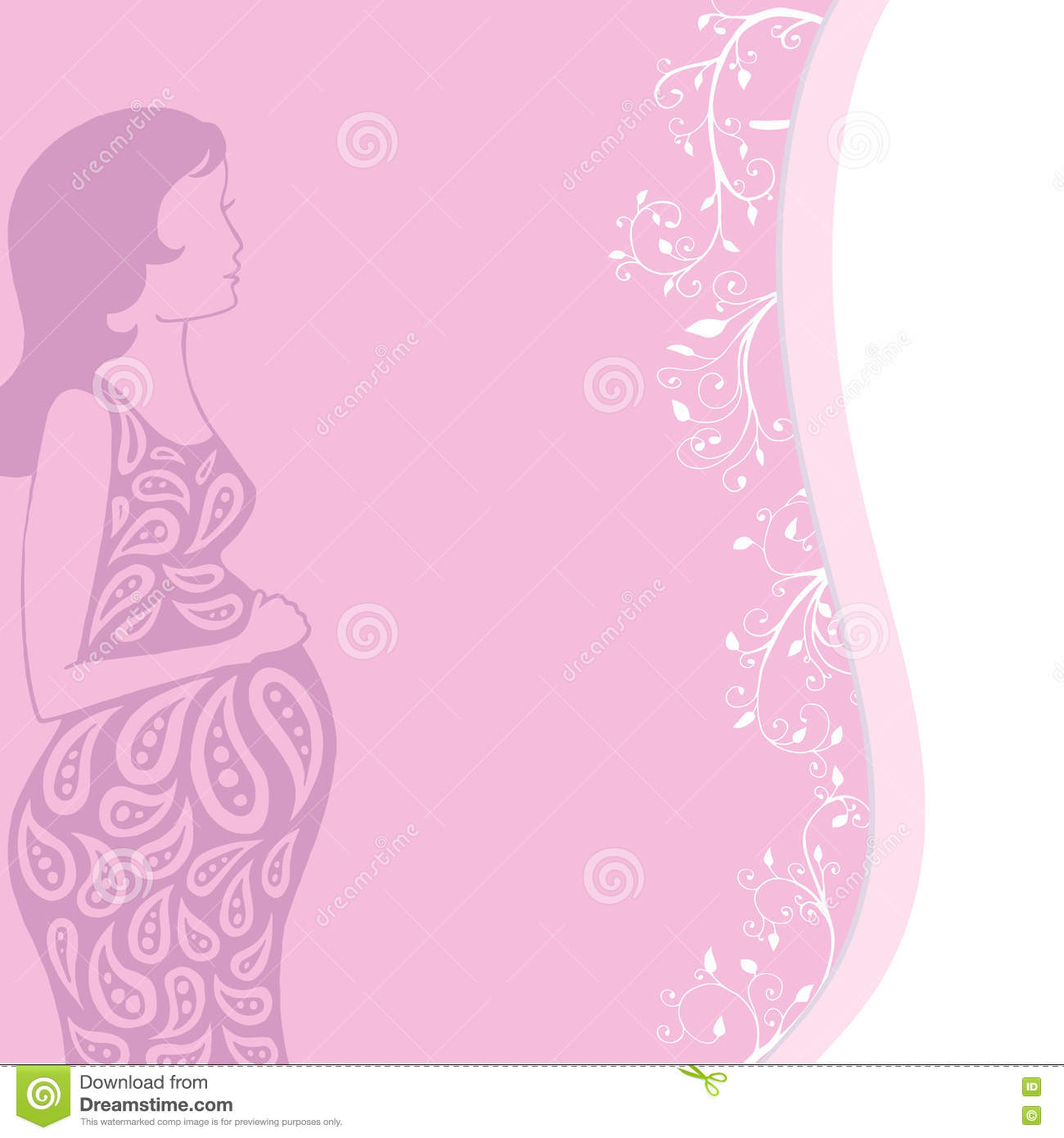 Pregnant woman vector girl on a pink background greeting card download pregnant woman vector girl on a pink background greeting card greetings postcard m4hsunfo