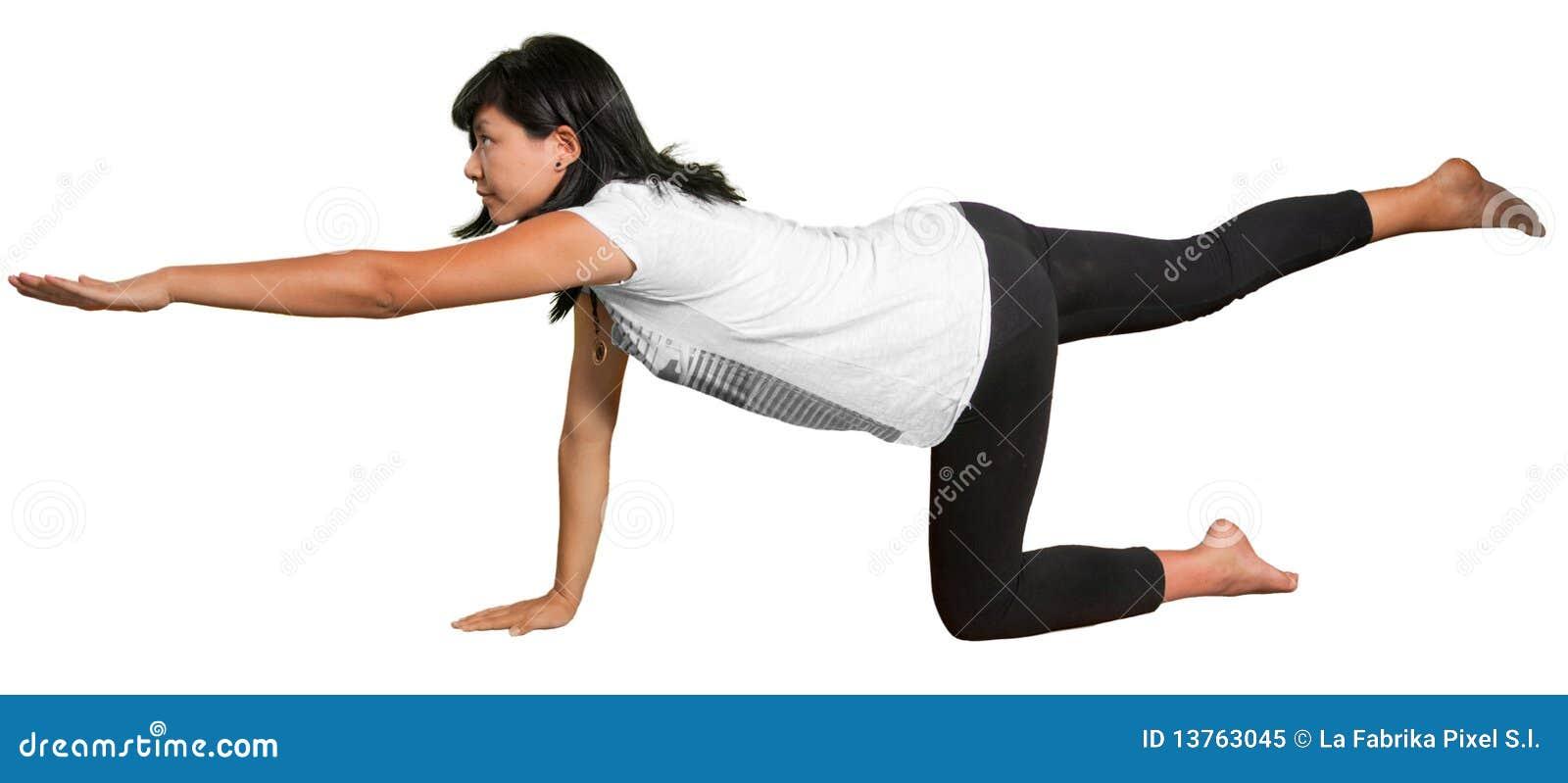 Pregnant woman in Yoga pose