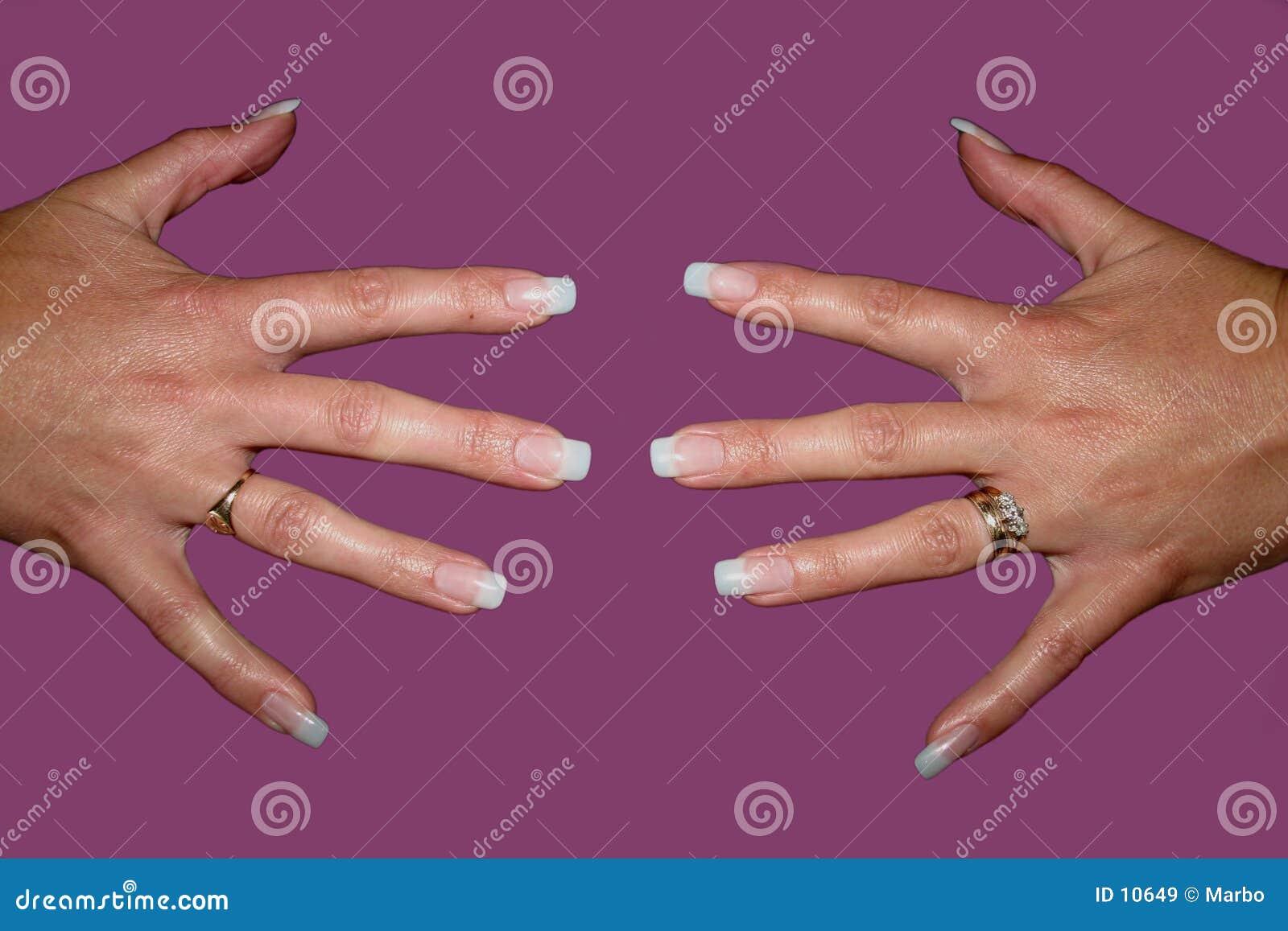 Pregos falsos do dedo