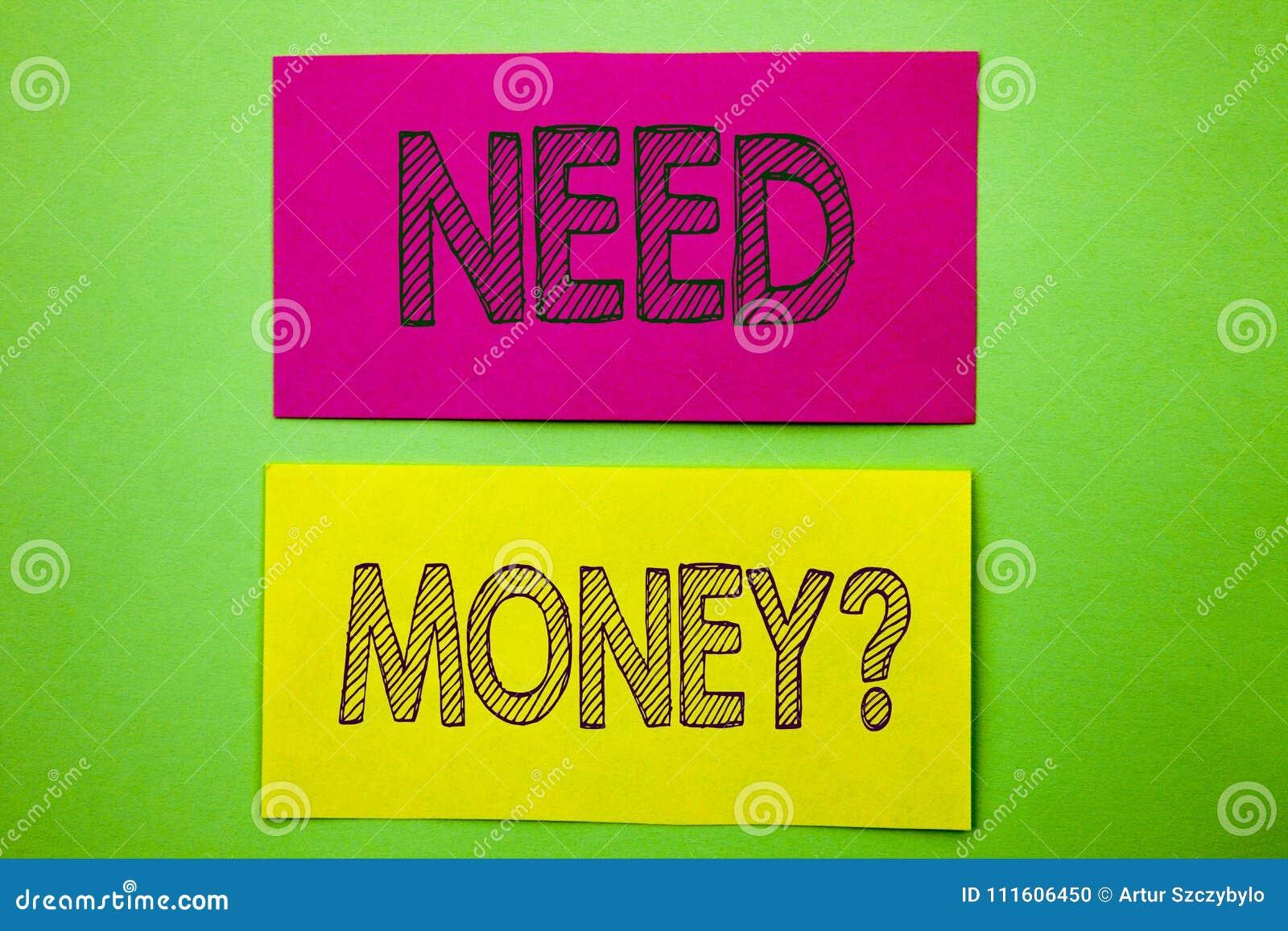 Pregunta del dinero de la necesidad de la demostración del texto del aviso de la escritura La crisis económica de las finanzas de