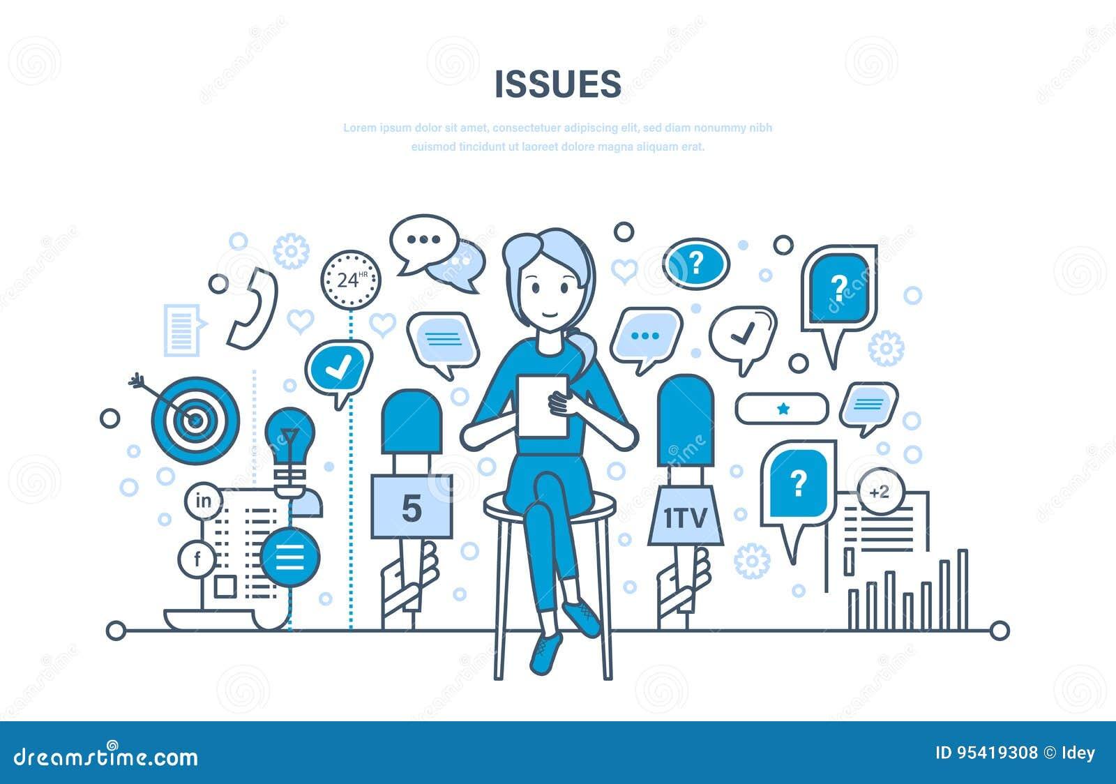 Preguntas y entrevistas, comunicaciones, intercambio de información Burbujas del discurso del diálogo