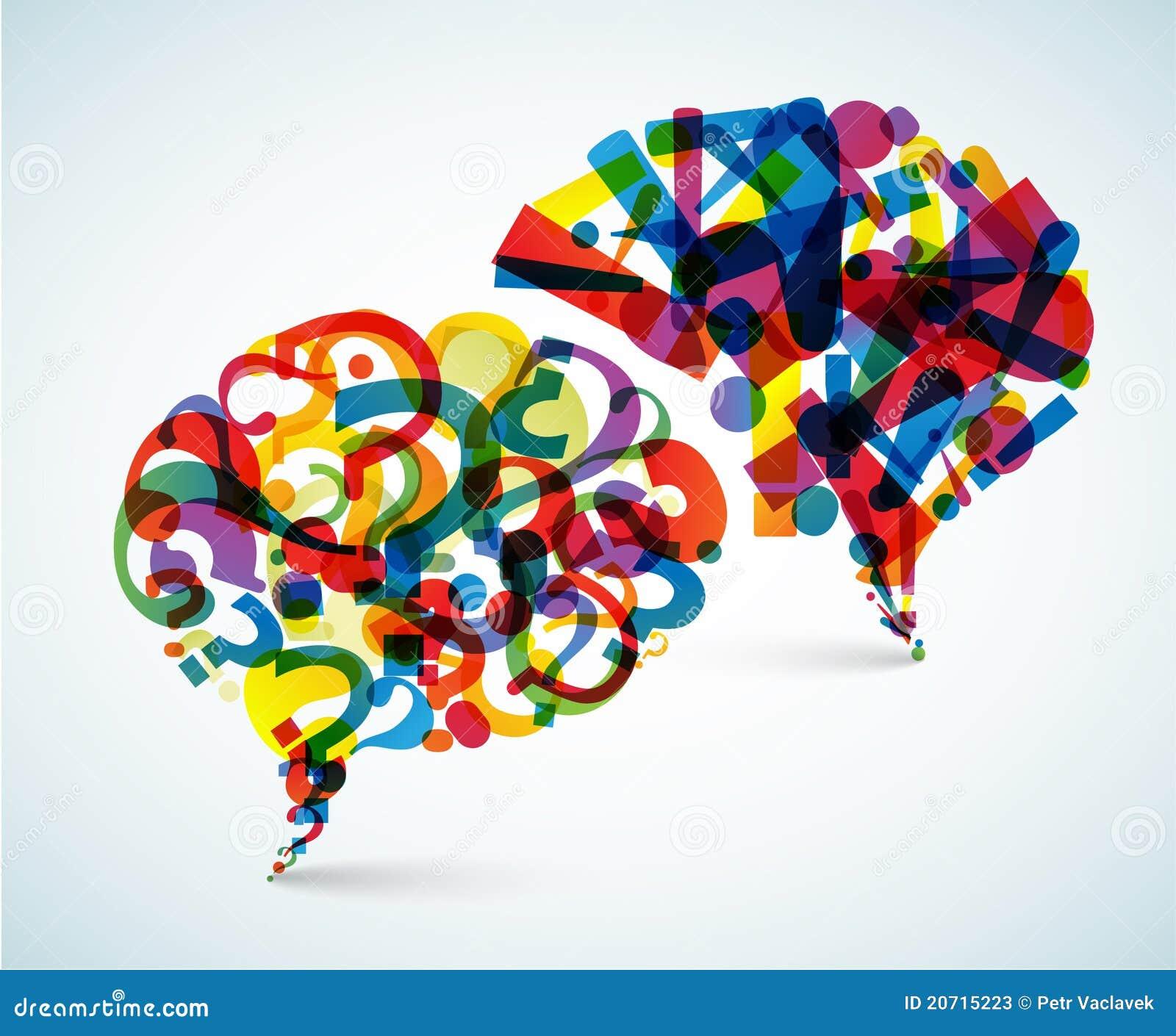 Preguntas y respuestas - ilustración abstracta