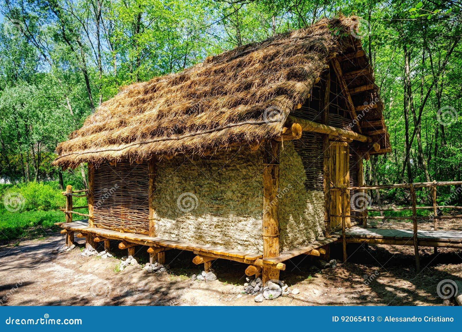 Prehistoryczny palafitte dom