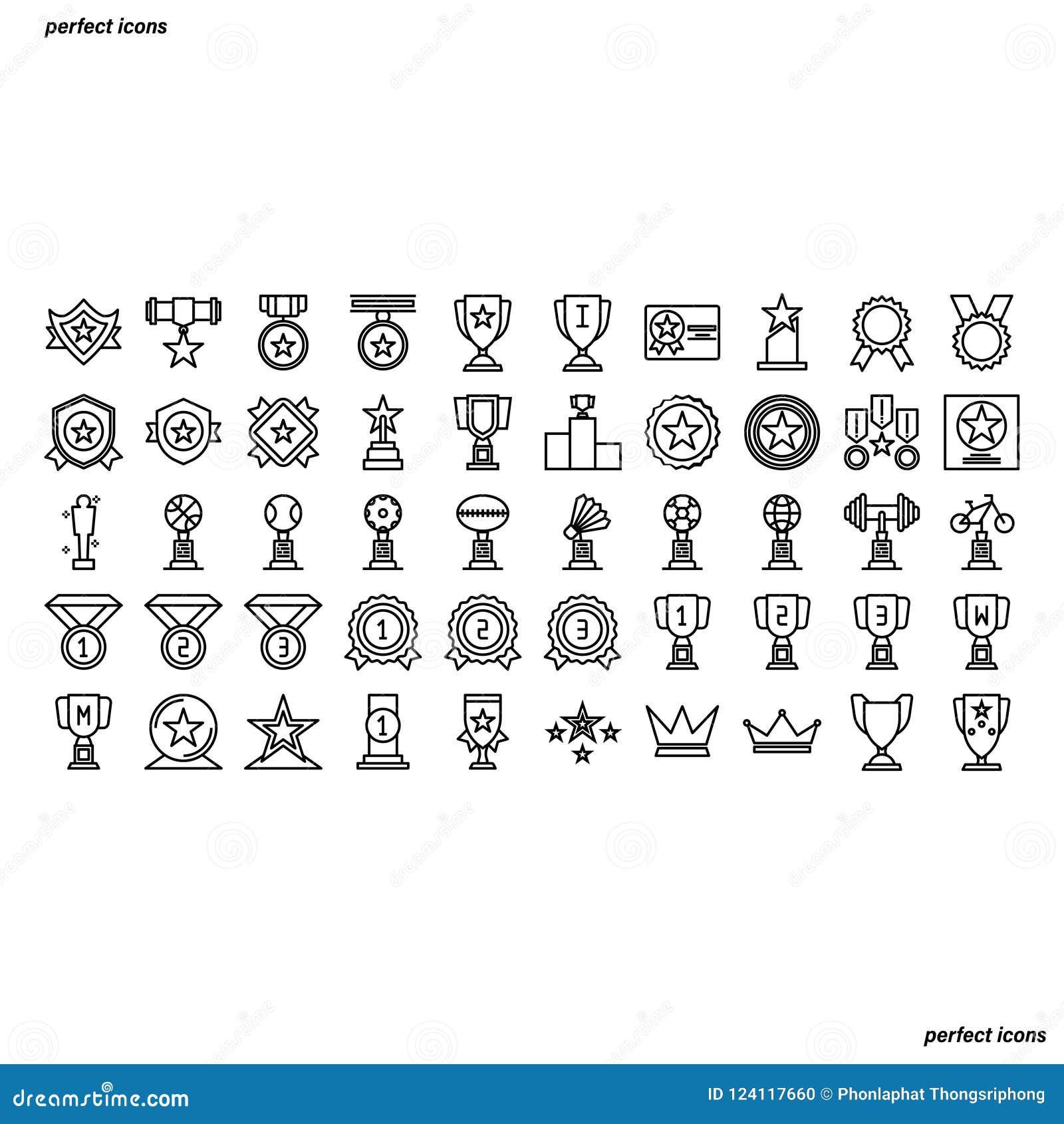 Preis-Entwurfs-Ikonen vervollkommnen Pixel