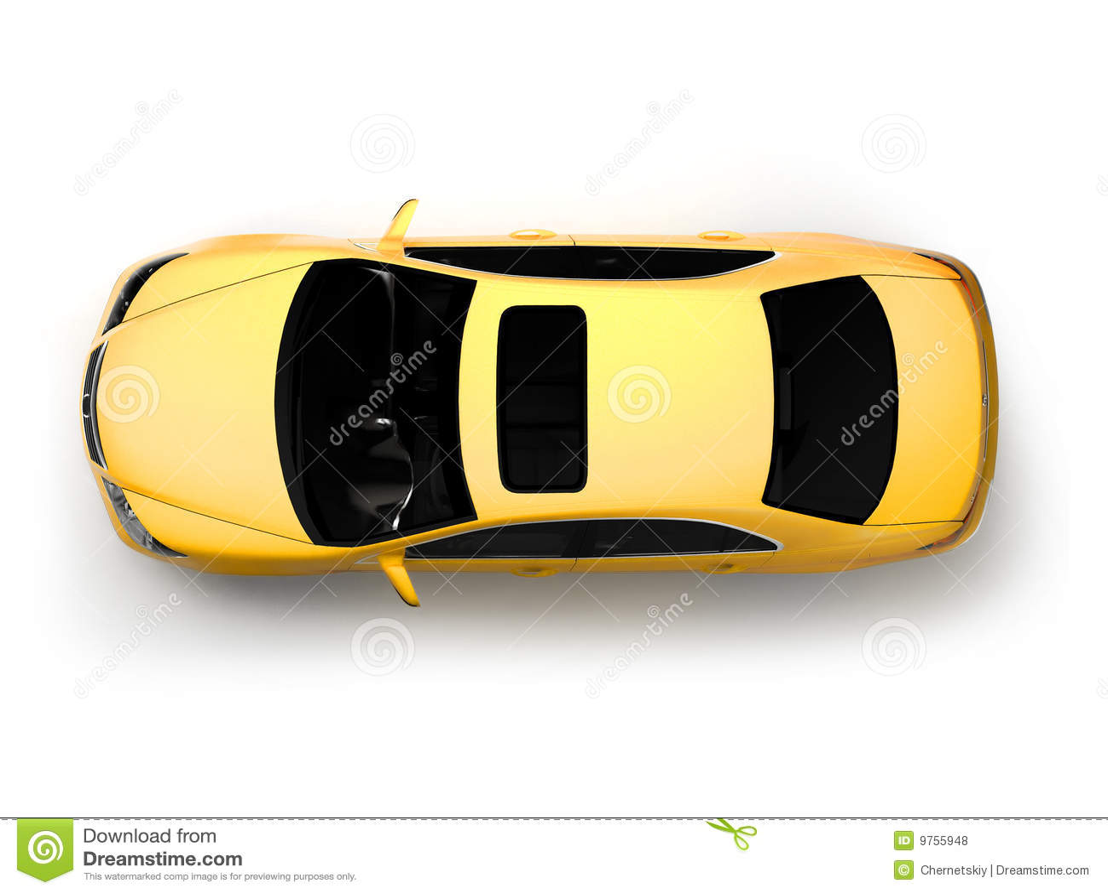 Première vue d isolement de véhicule moderne jaune