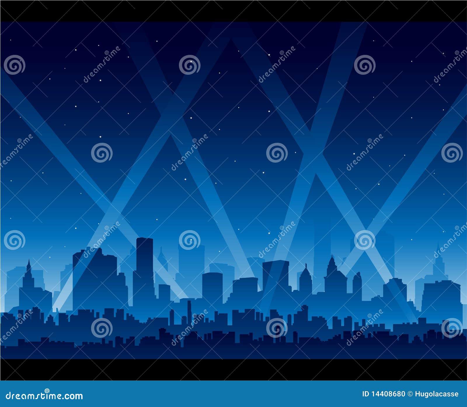 Premier de la película de la vida nocturna de la ciudad