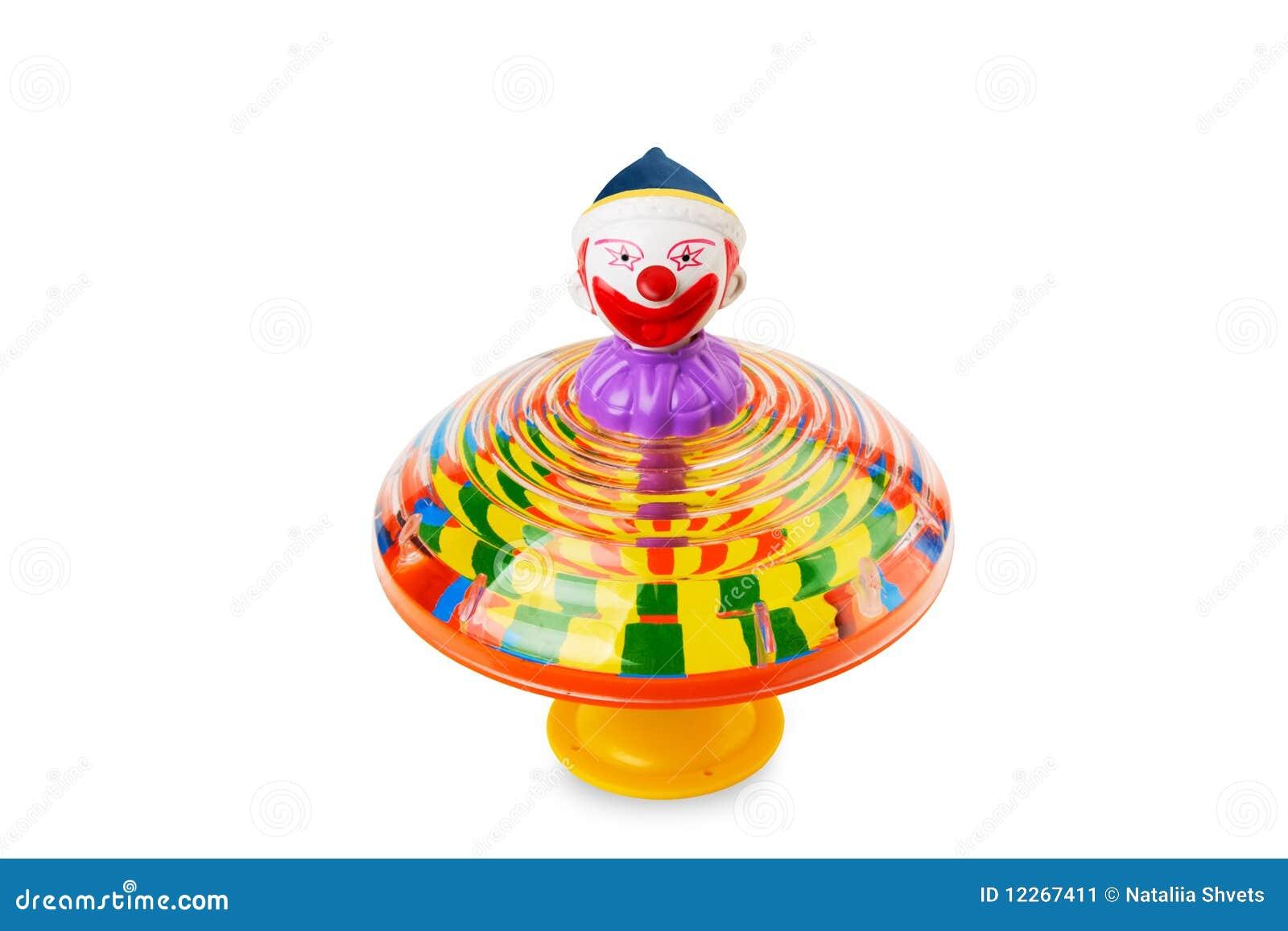 Premier de rotation de clown d isolement