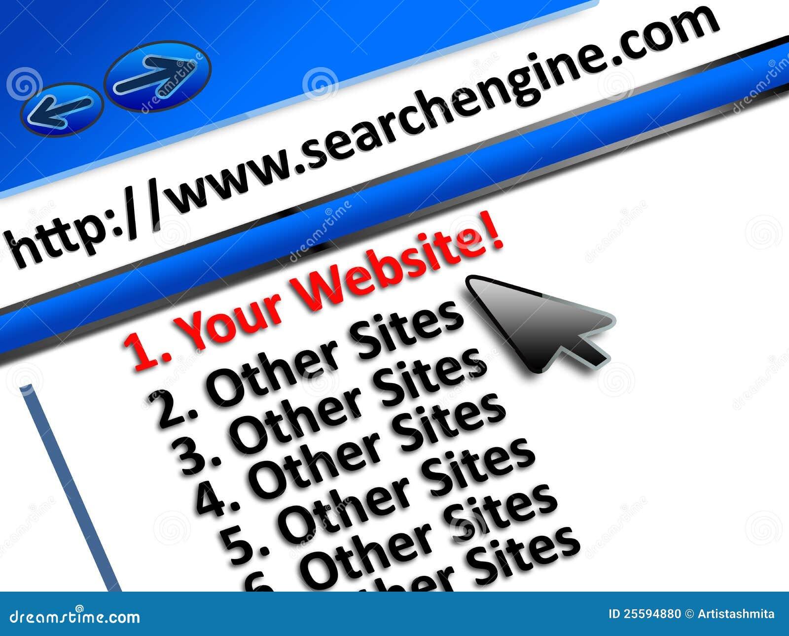 Premier emplacement de site Web de SEO