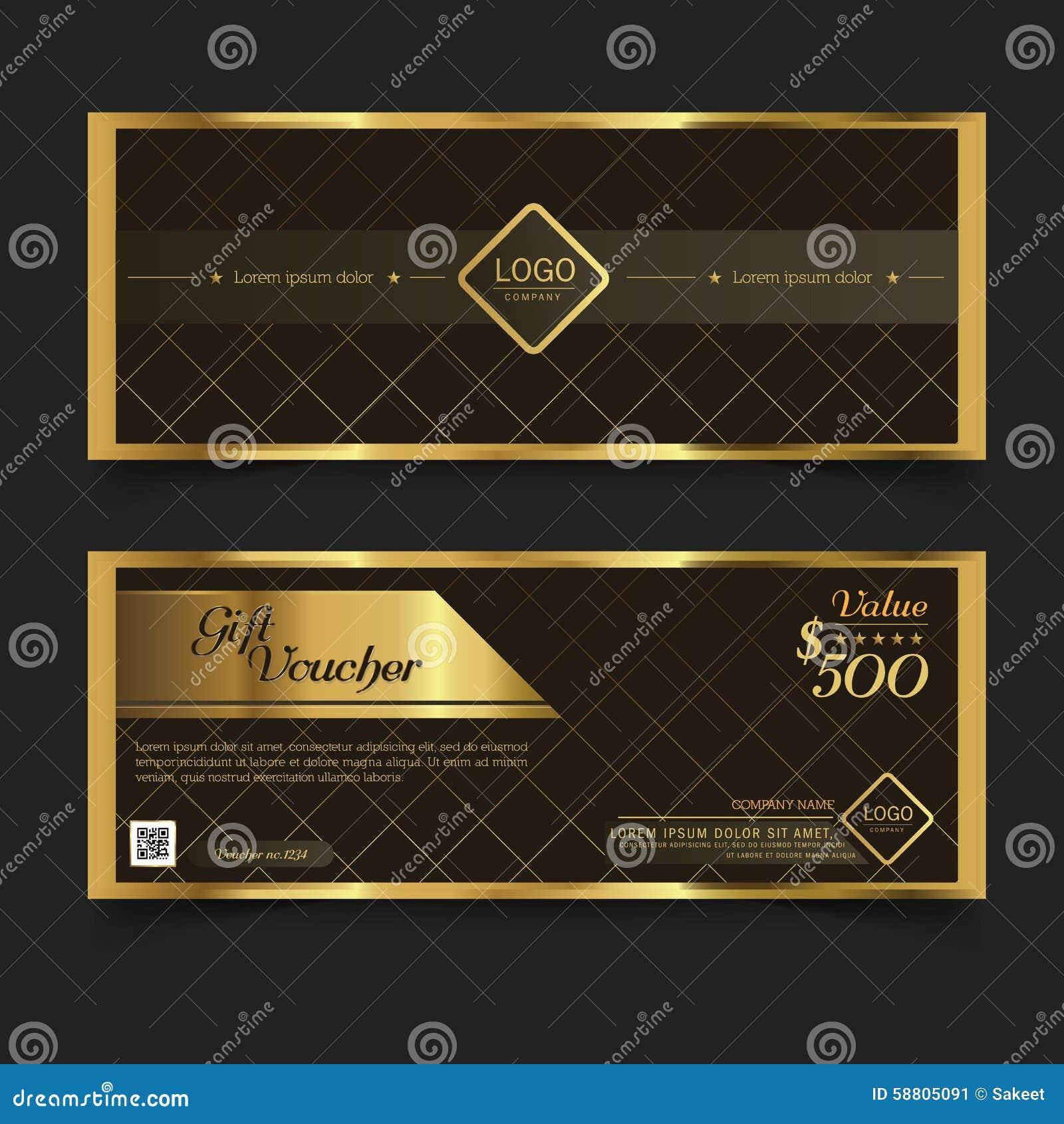 Premier ministre Gold de bon de cadeau Vecteur