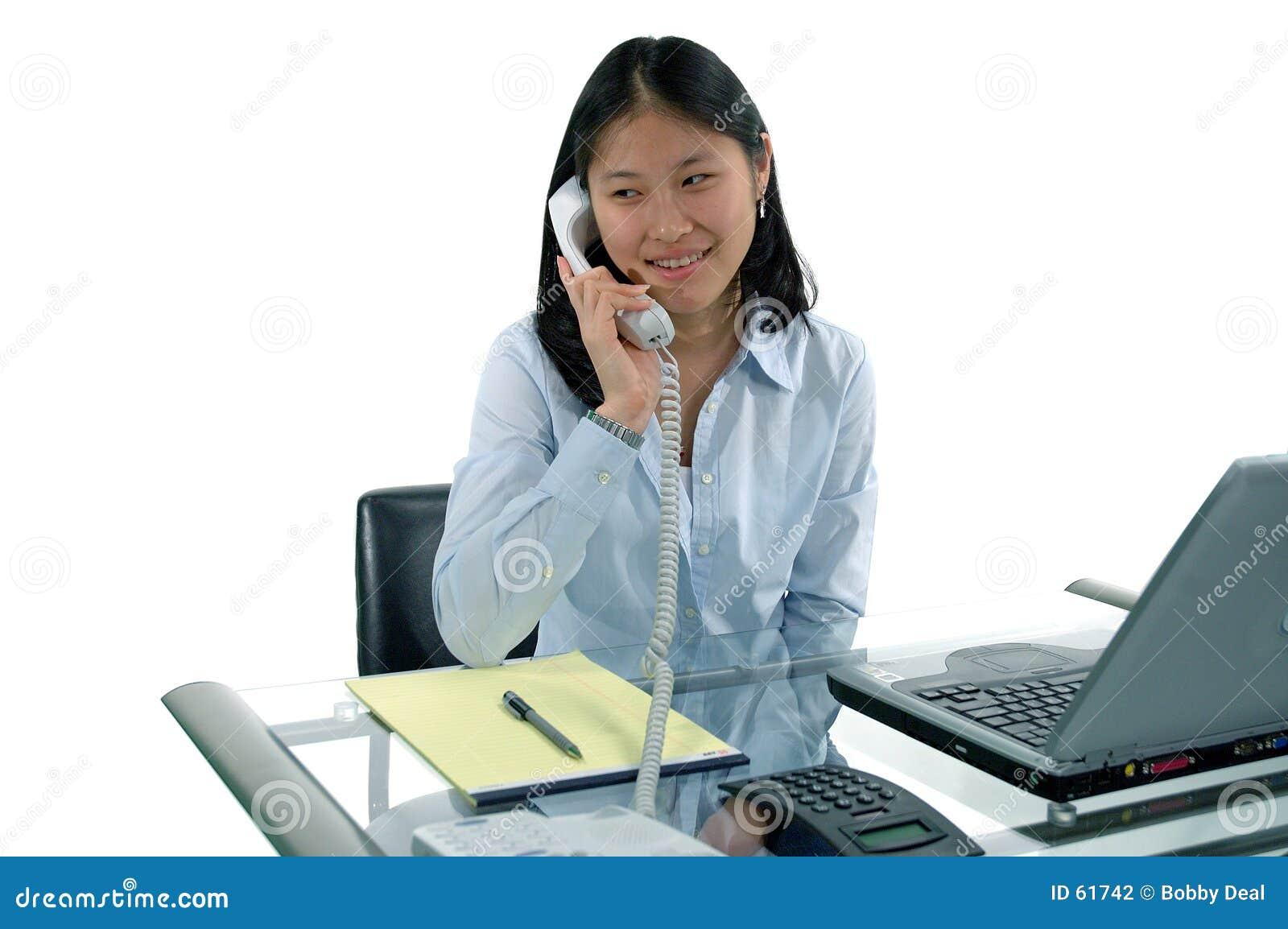 Download Premier Réceptionniste Du Travail Photo stock - Image du femelle, ling: 61742