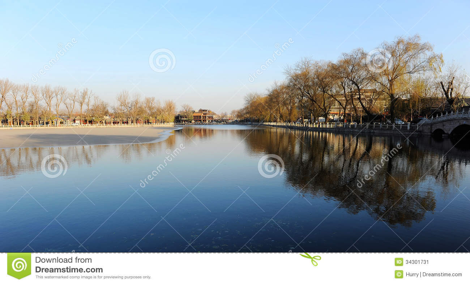 Premier ressort dans le lac Houhai, Pékin