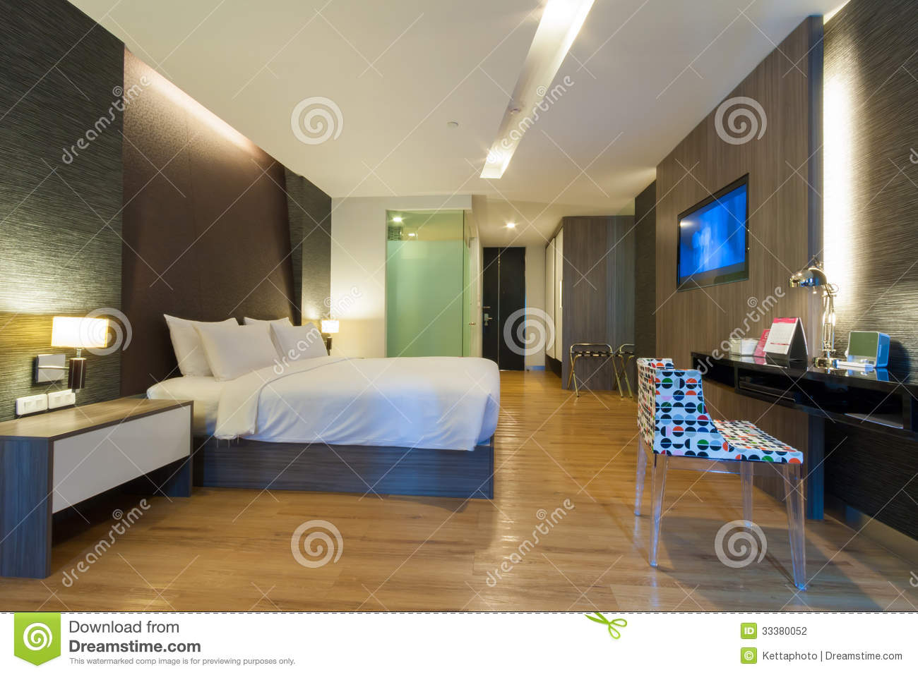 Luxury modern room in hotel with facilities bangkok thailand