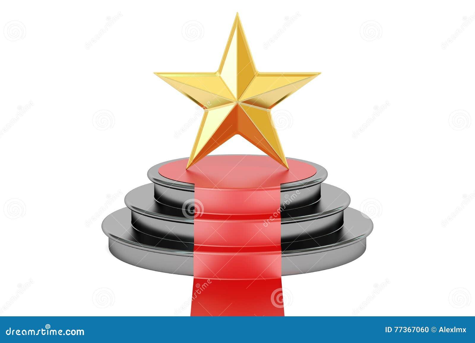 Premio de oro de la estrella 3D