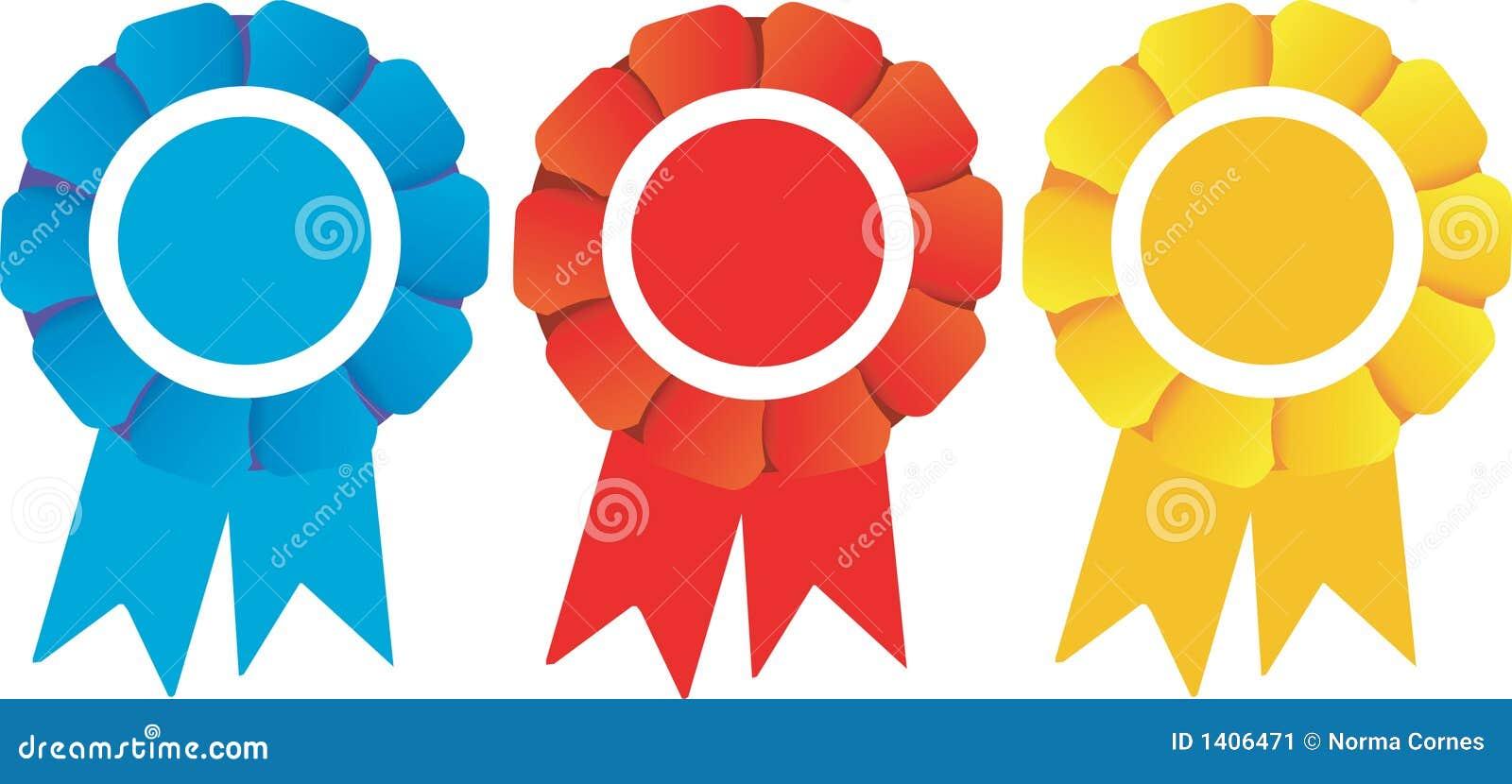 Premios De Los Rosetones De Los Ganadores Ilustración Del Vector