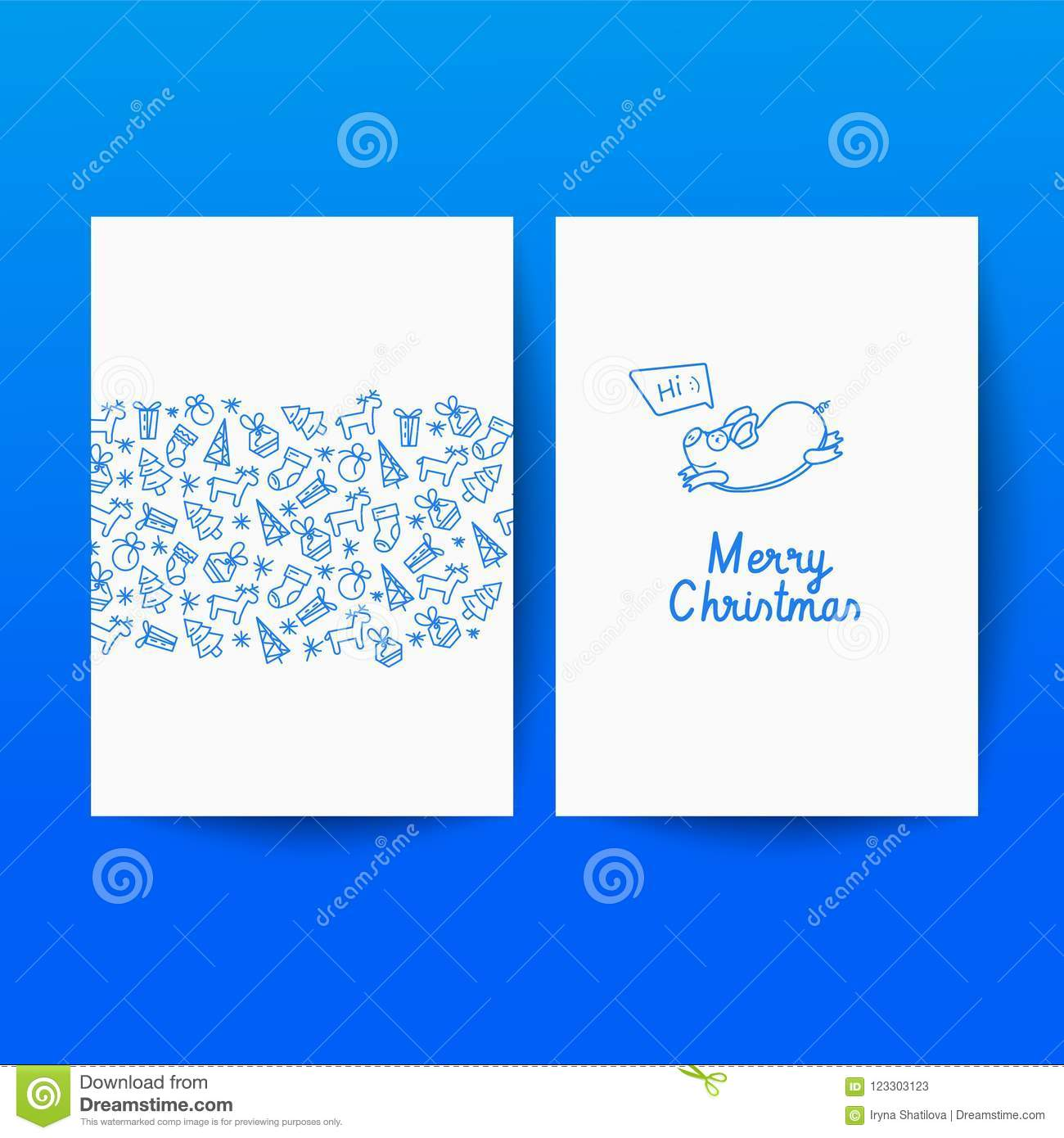 Premium Background For Holiday Greeting Card. Stock Vector ...