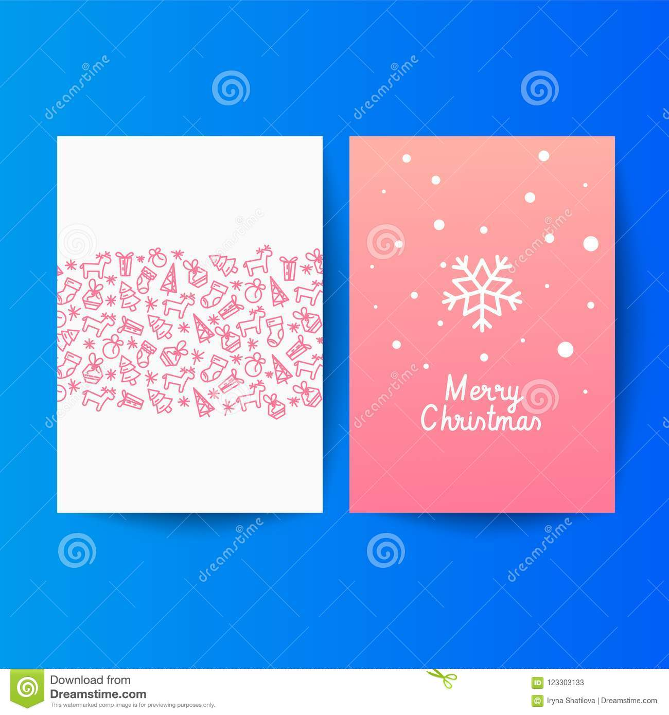 Premium Background For Holiday Greeting Card Stock Vector