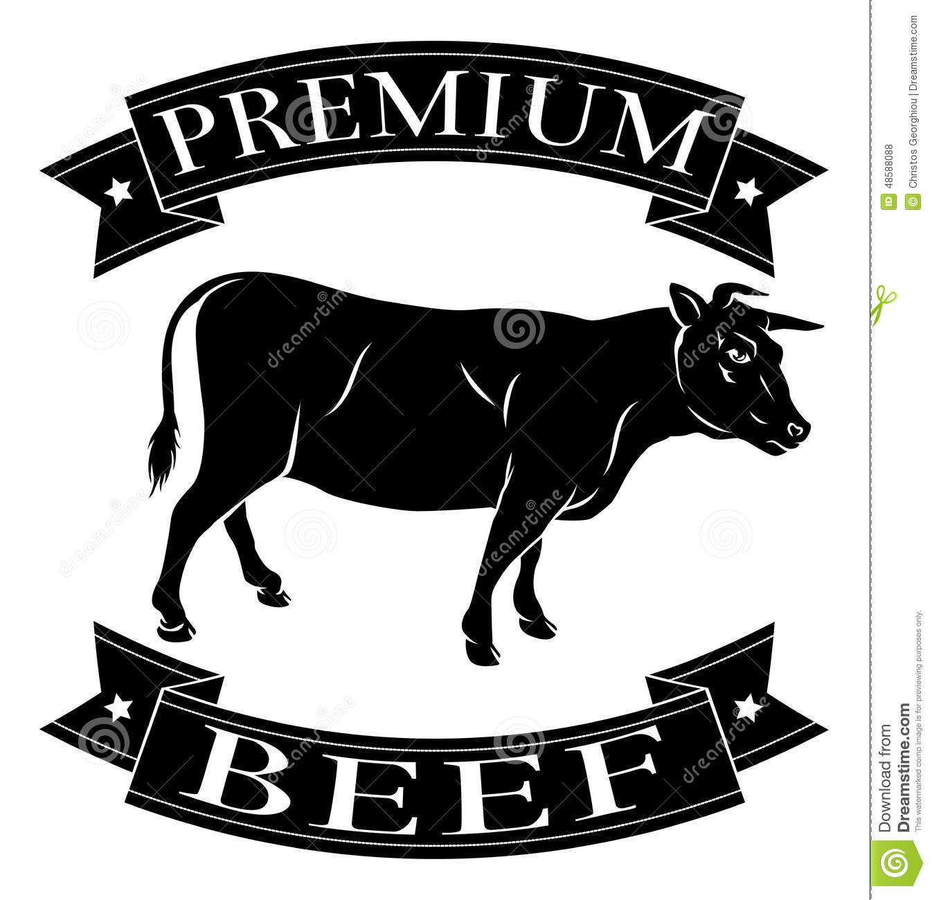 premium beef icon stock vector illustration of packaging