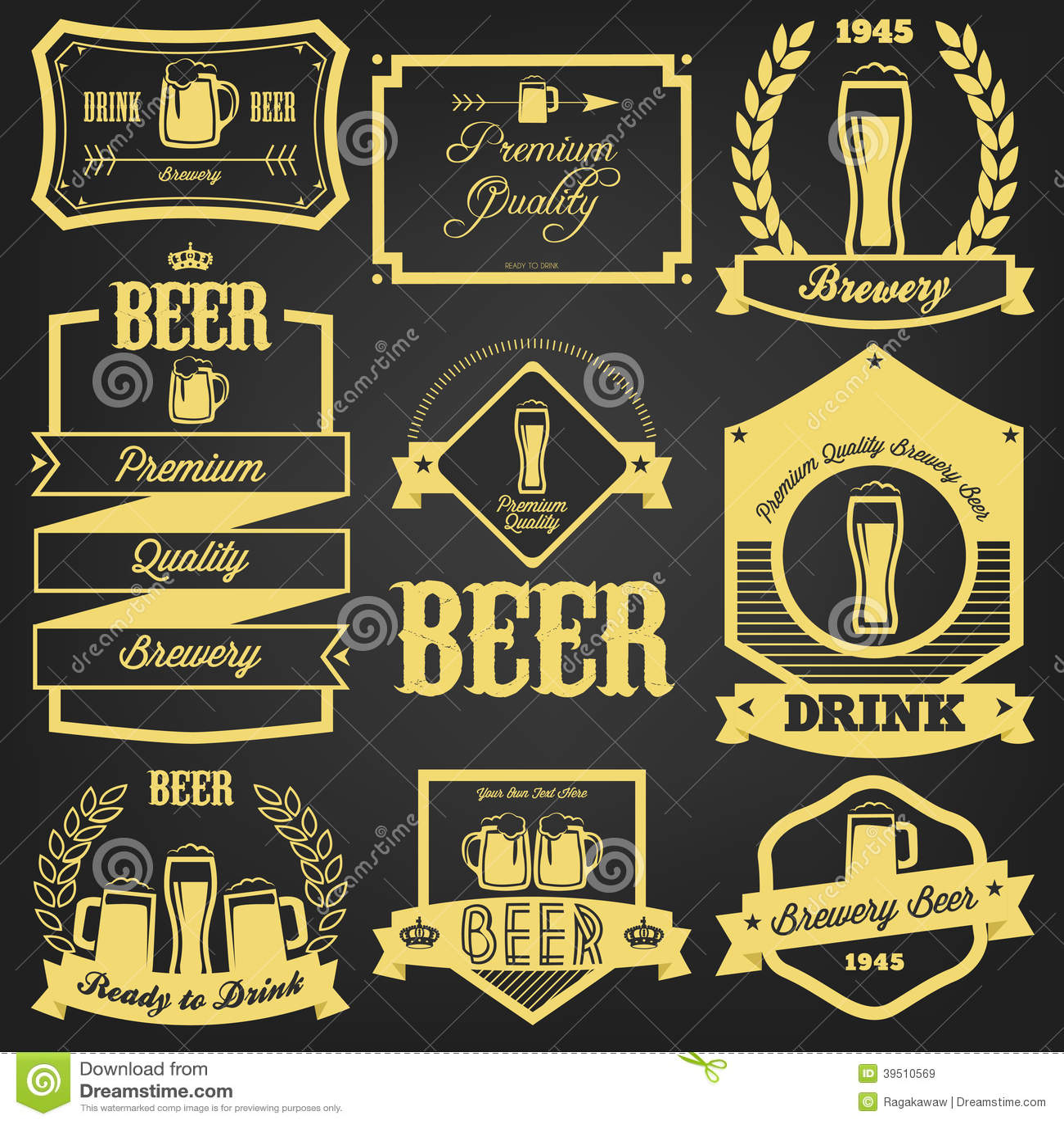 Download Premium Beer Label Design stock vector. Illustration of artwork - 39510569