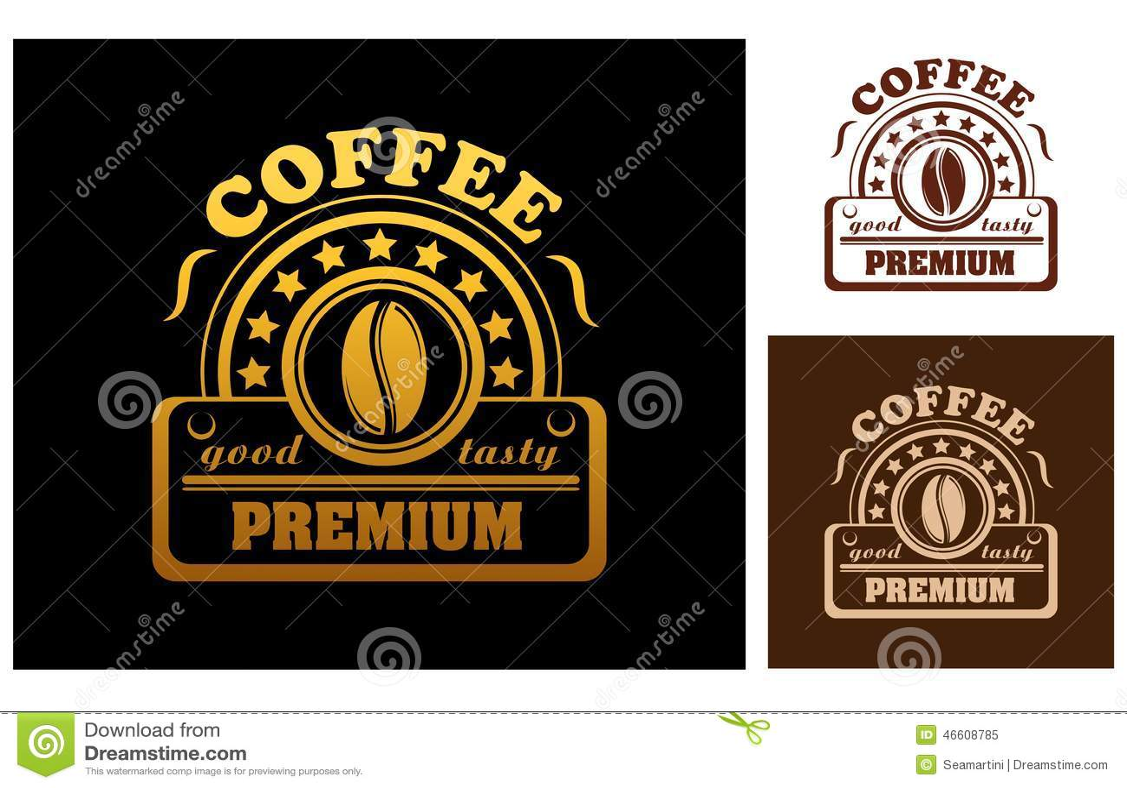 Premium Coffee label or badge