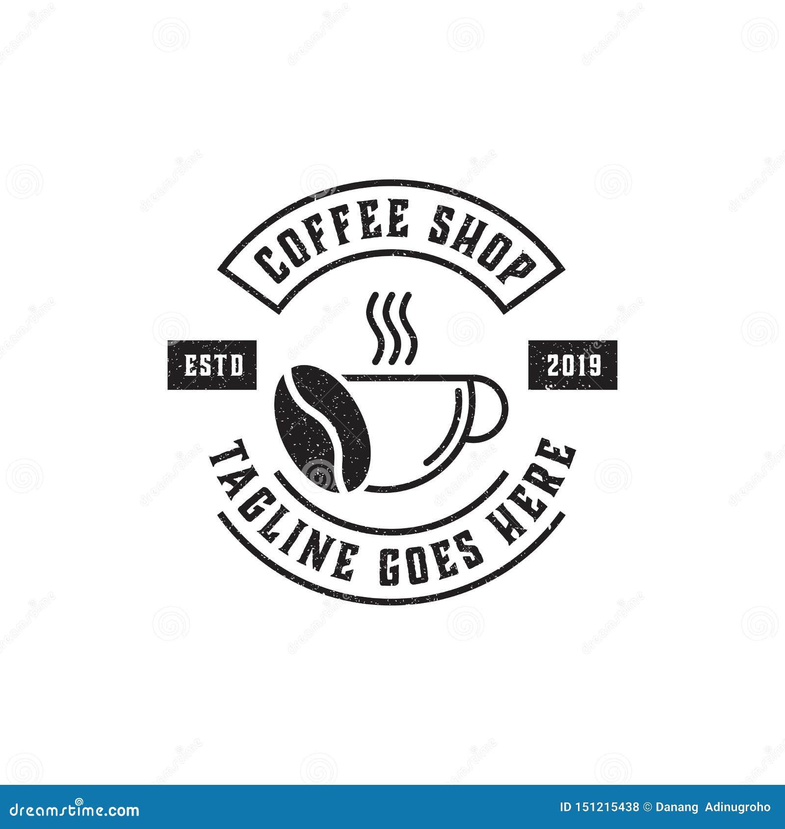 Premium Coffee Shop Logo Inspiration Vintage Rustic And Retro Stock Illustration Illustration Of Coffee Badge 151215438