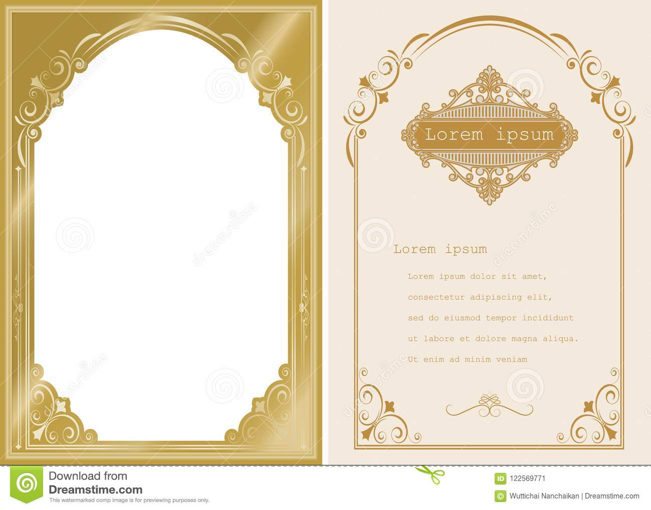 73873d416c86 Premium Invitation Or Wedding Card Stock Vector - Illustration of ...