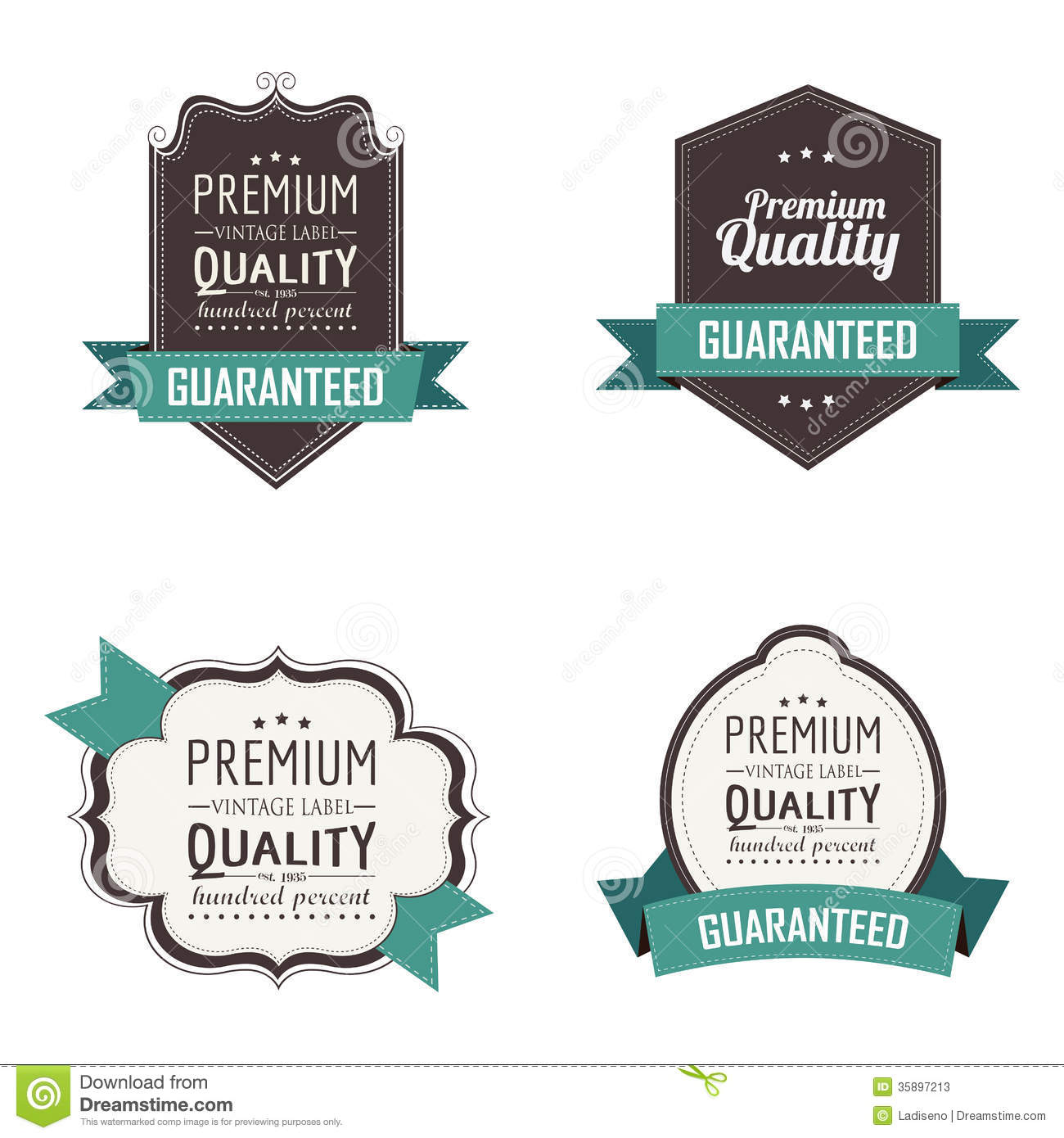 premium labels stock vector illustration of premium 35897213