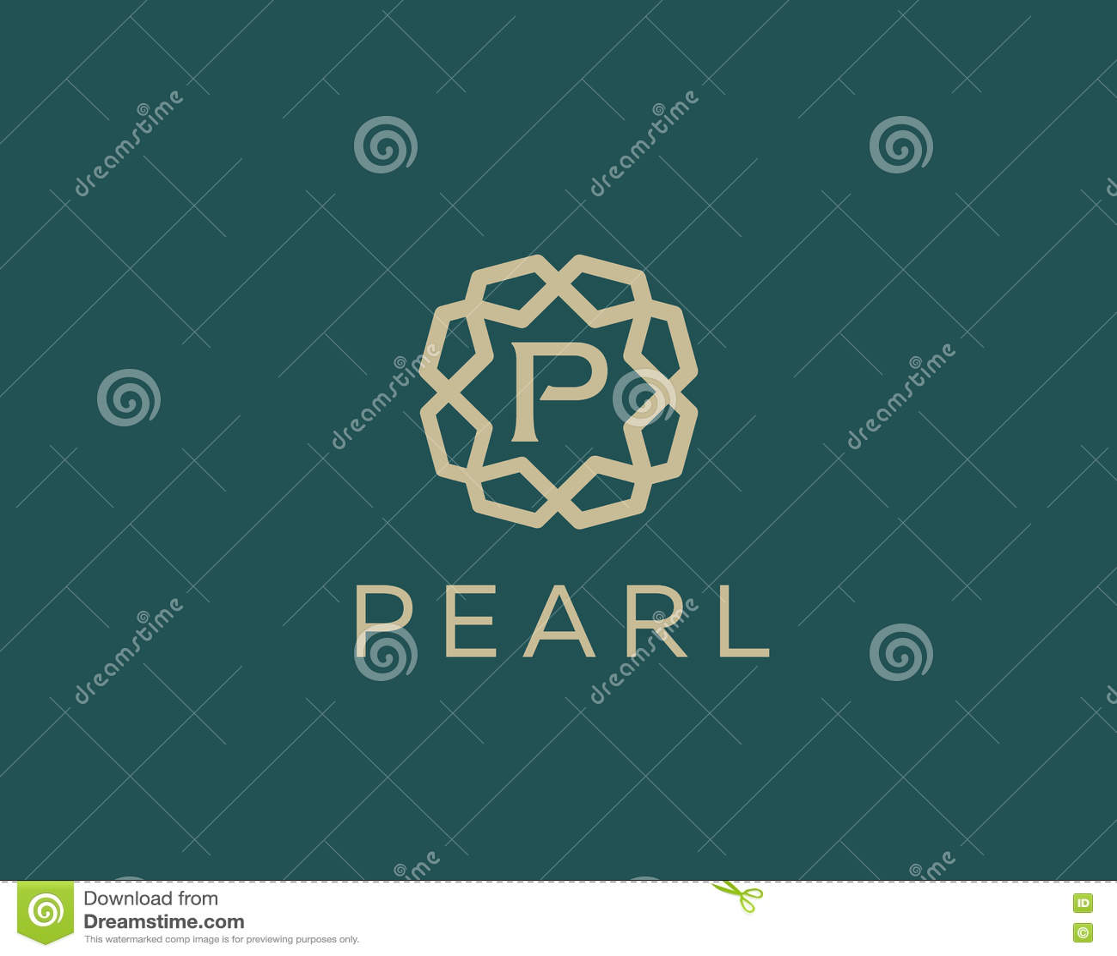 Premium Letter P Logo Icon Vector Design Luxury Jewelry Frame Gem
