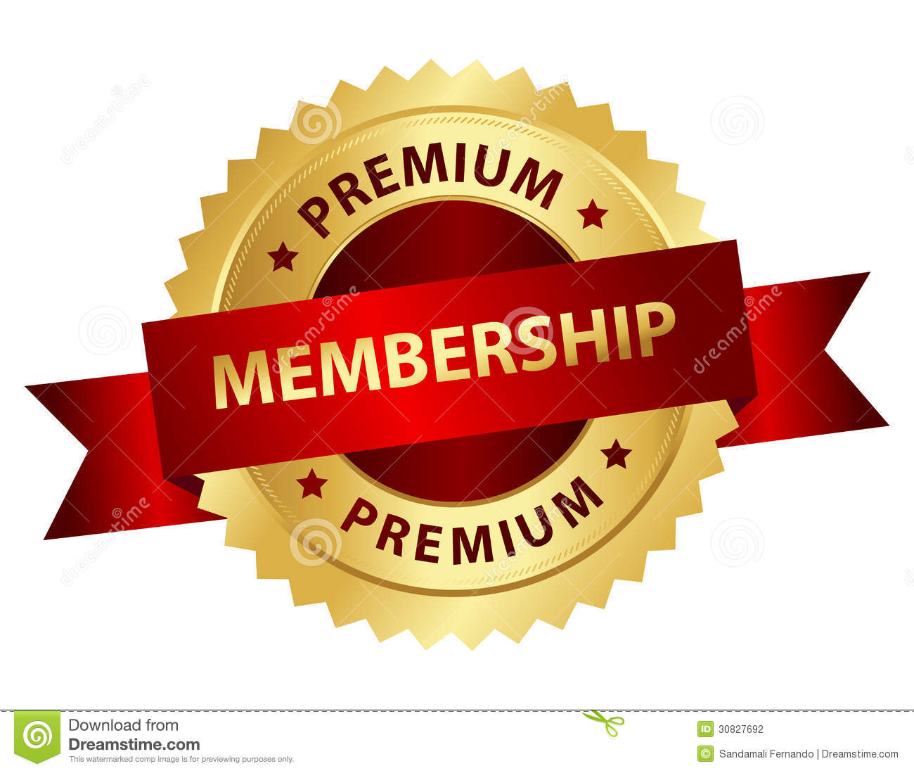 Premium Stock Images Premium membership badge
