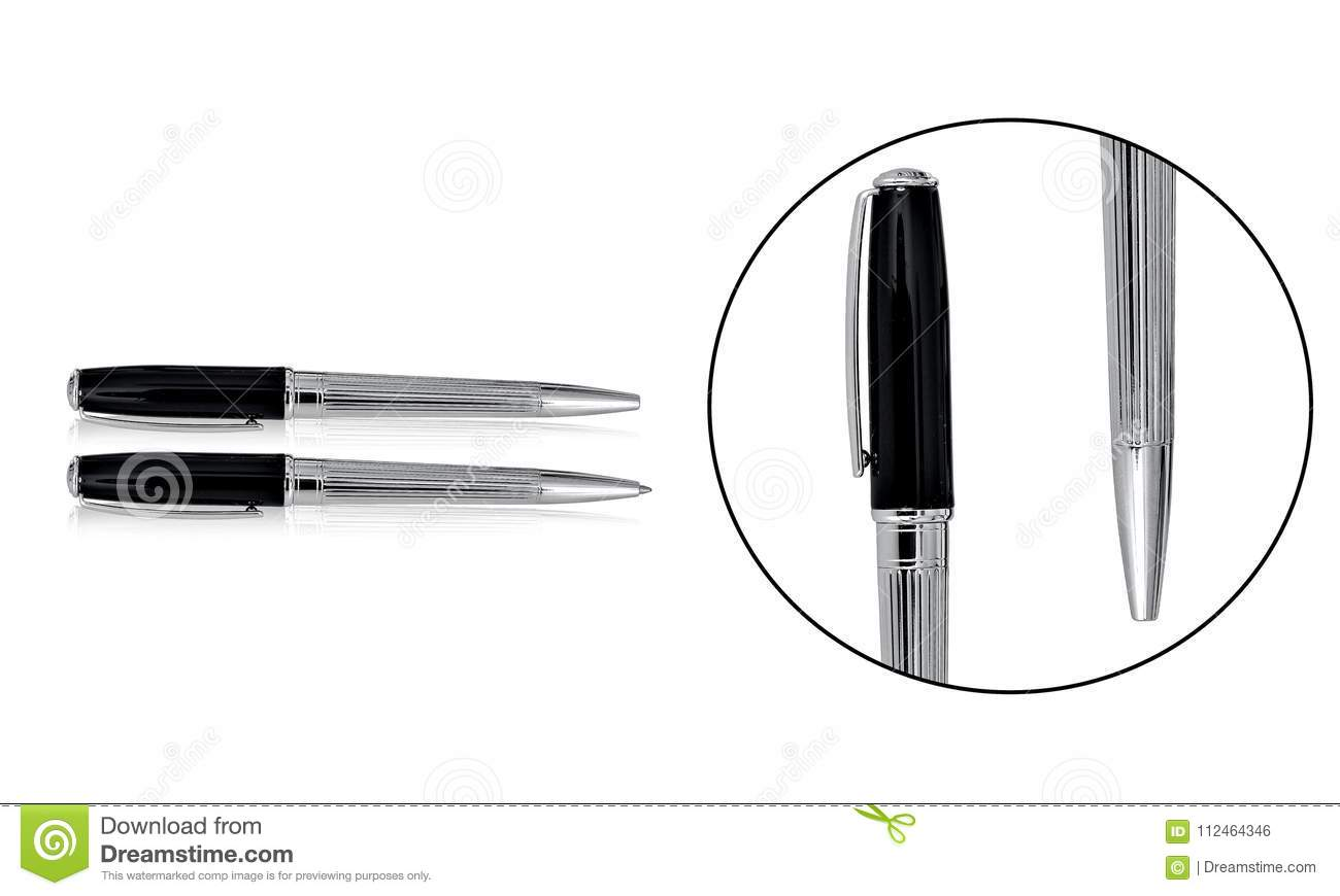 premium quality ballpoint pen sets with black and silver combination