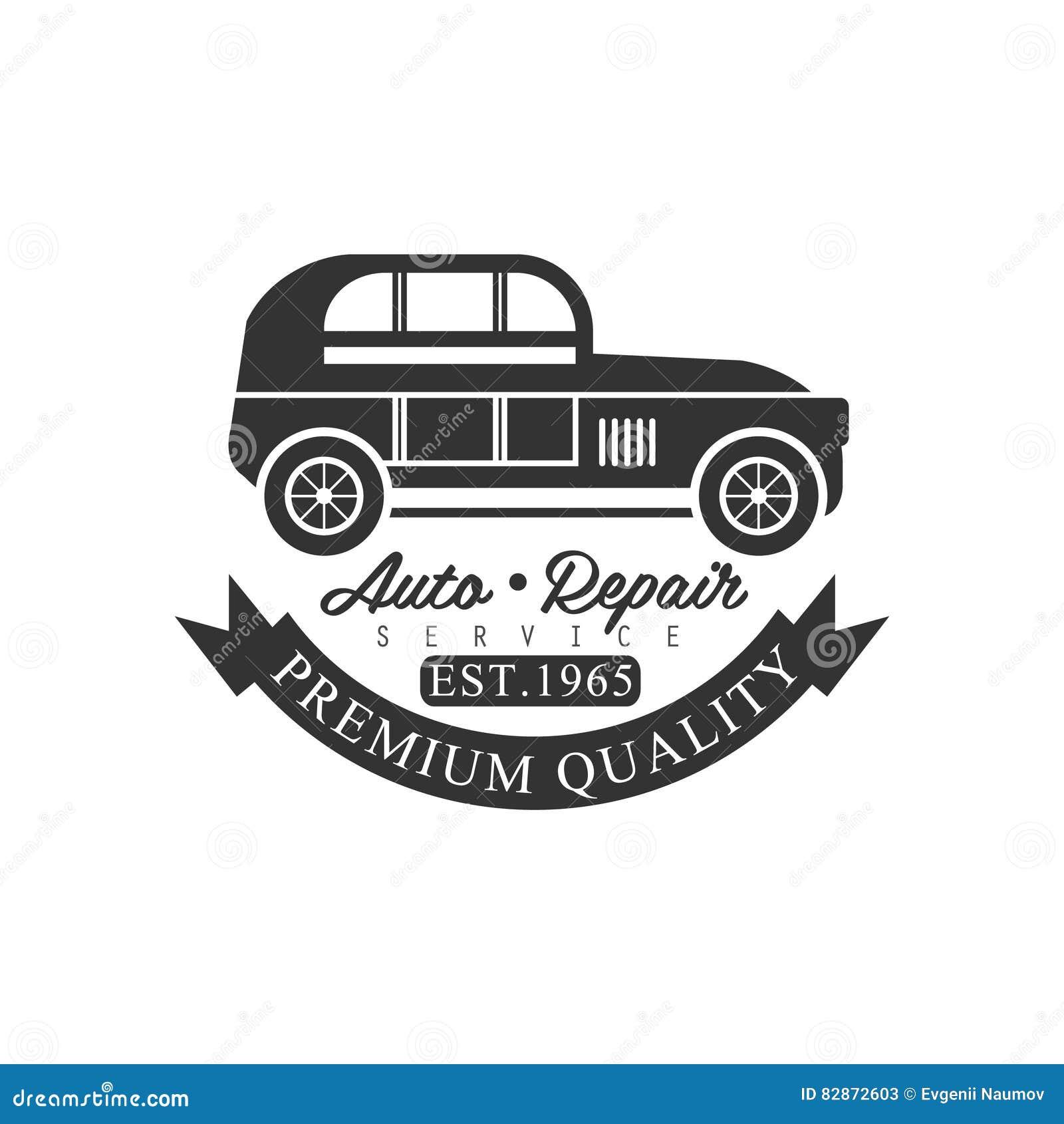 Design car repair workshop - Premium Quality Car Repair Workshop Black And White Label Design Template
