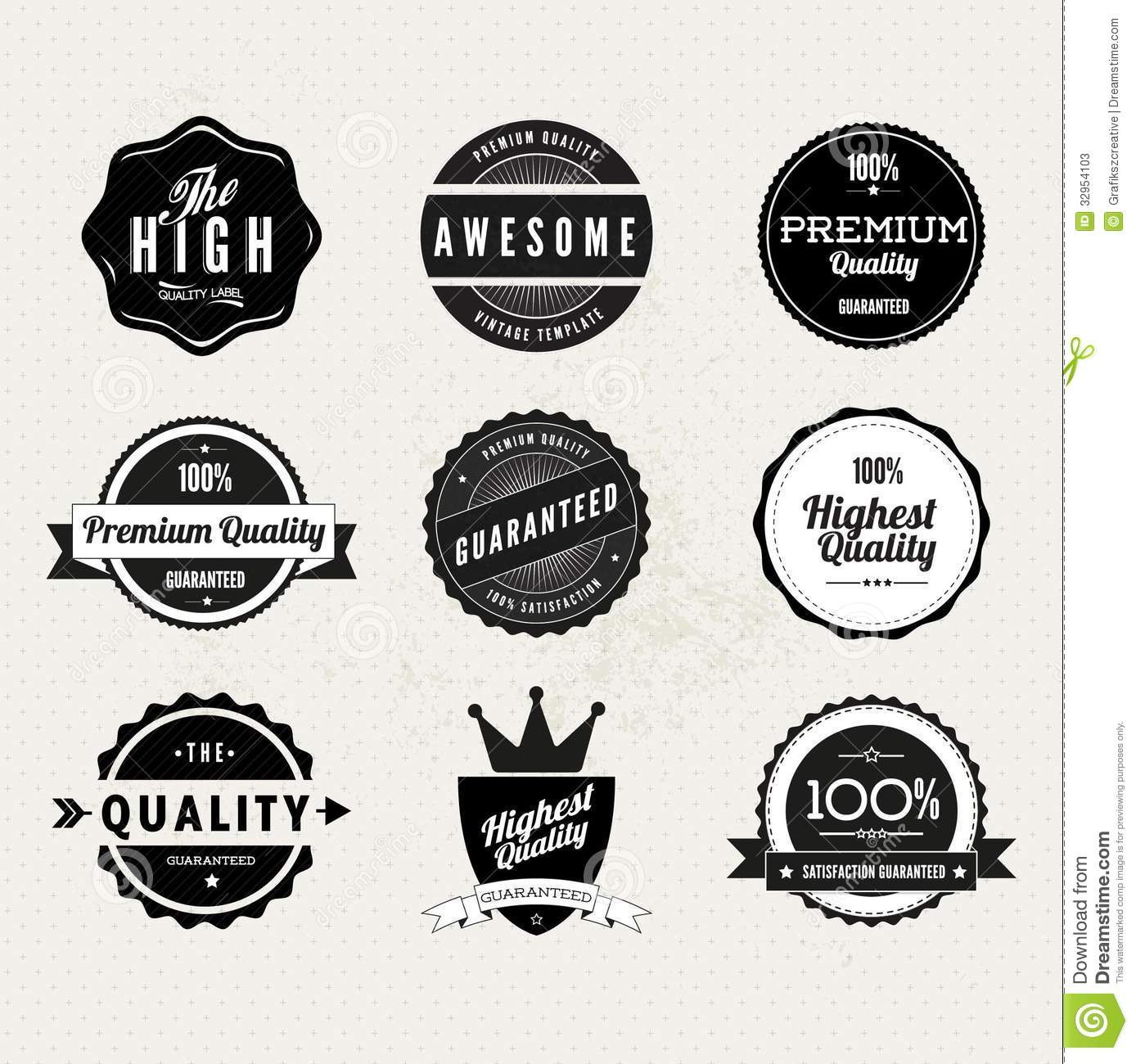 Premium Quality Stamps Stock Vector Image Of Business