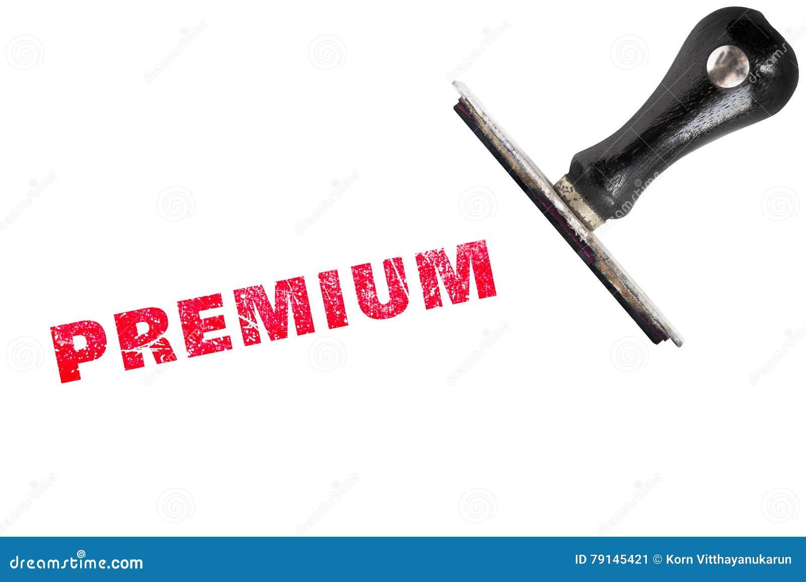 Premium stamp text