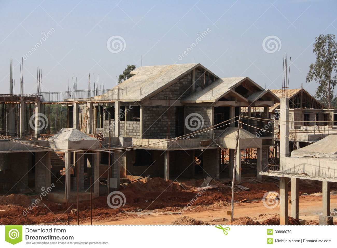 Premium Villa Under Construction Stock Image Image 30896079