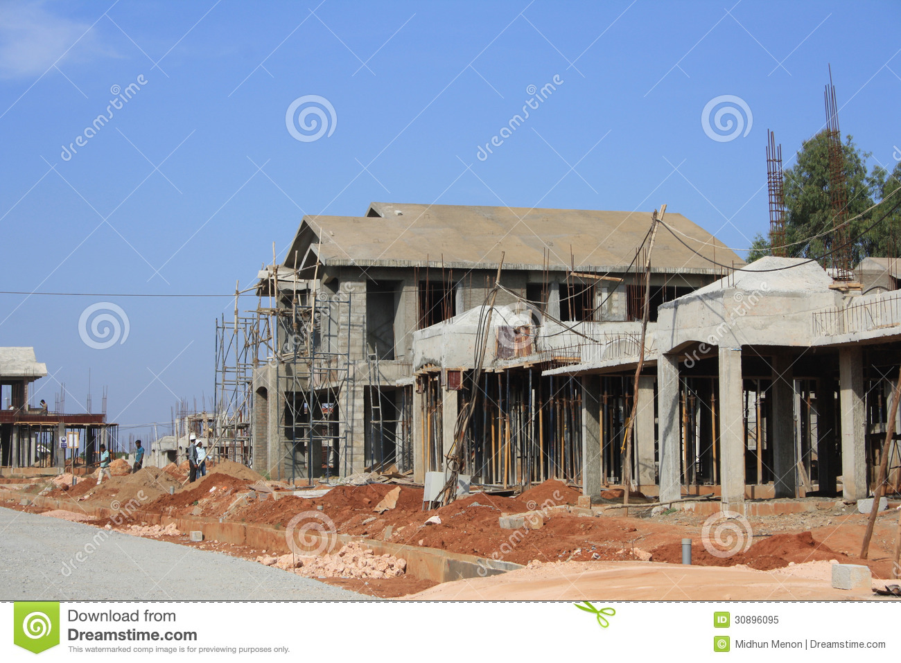 Premium Villa Under Construction Stock Image Image 30896095