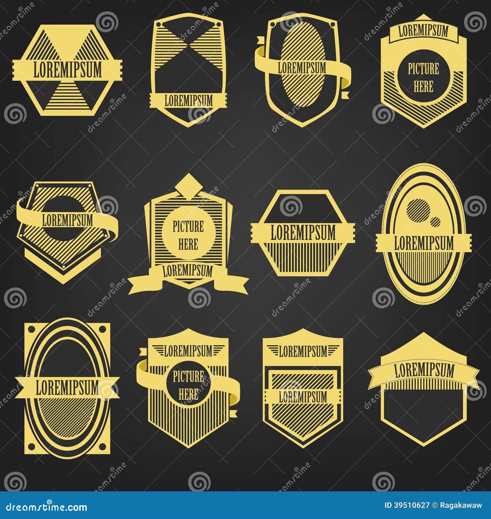 Premium Vintage Label Set
