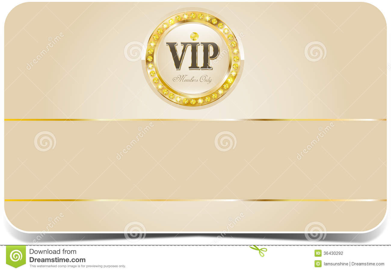 Premium Vip Card Stock Photography Image 36430292