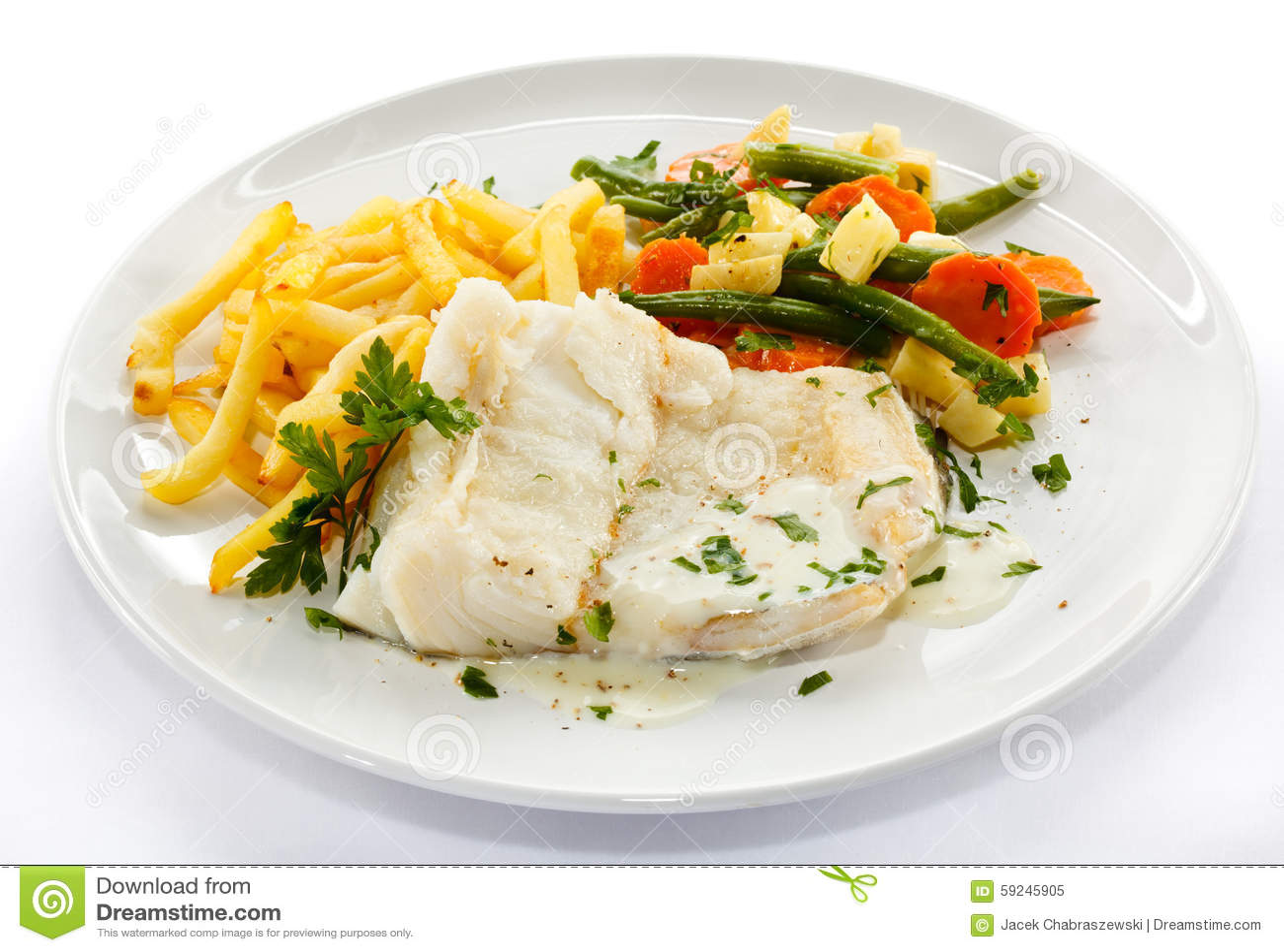 Download Prendedero De Pescados Frito Imagen de archivo - Imagen de virutas, bacalao: 59245905