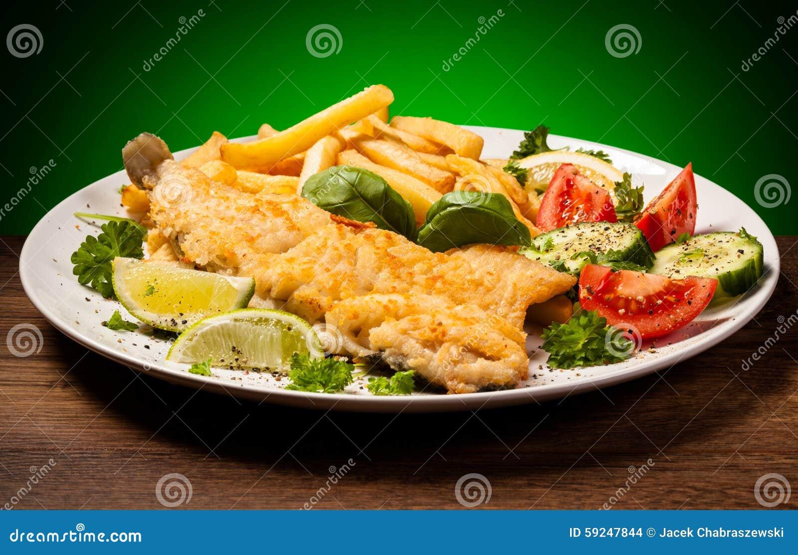 Prendedero de pescados frito