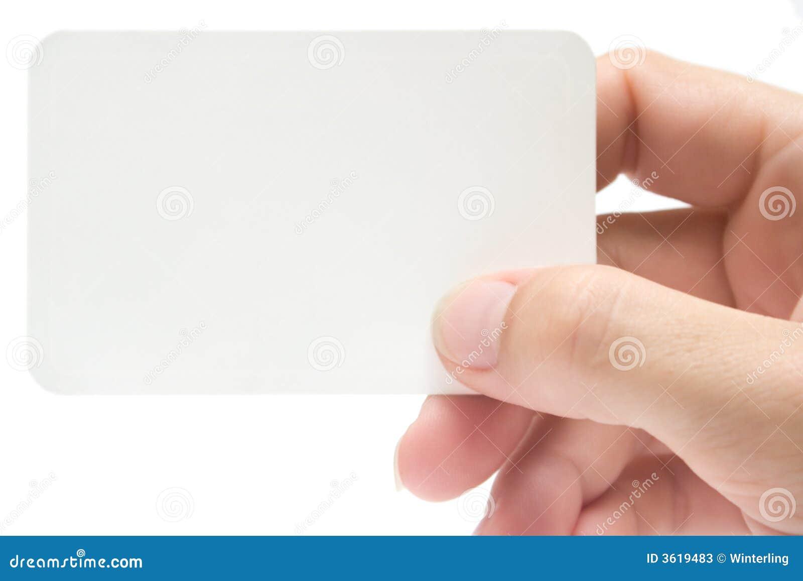 Prendendo um cartão