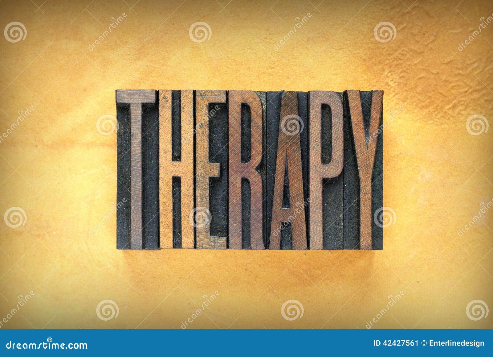 Prensa de copiar de la terapia