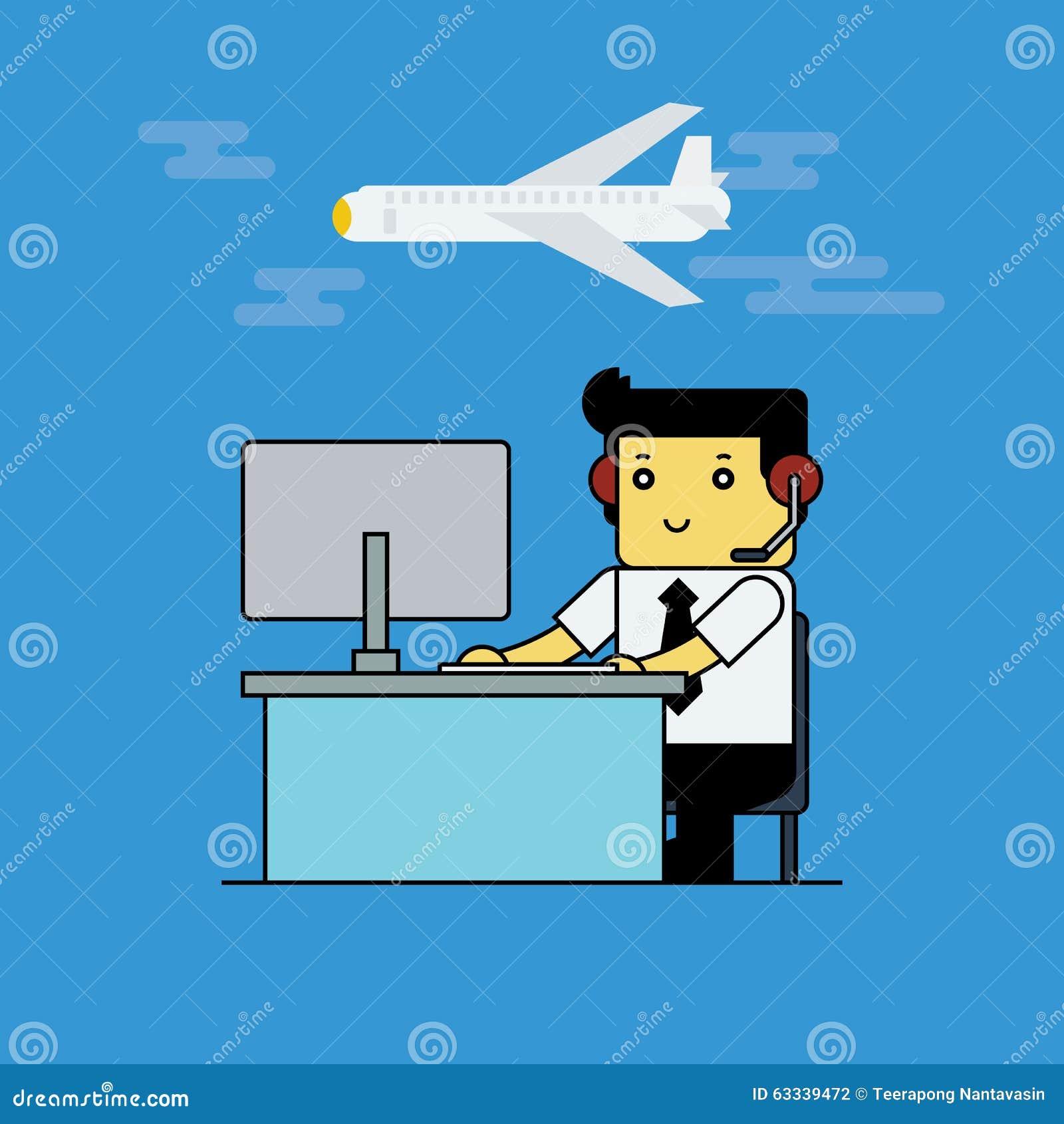 Prentbriefkaar aan de dag van de manager van de Luchtvaart
